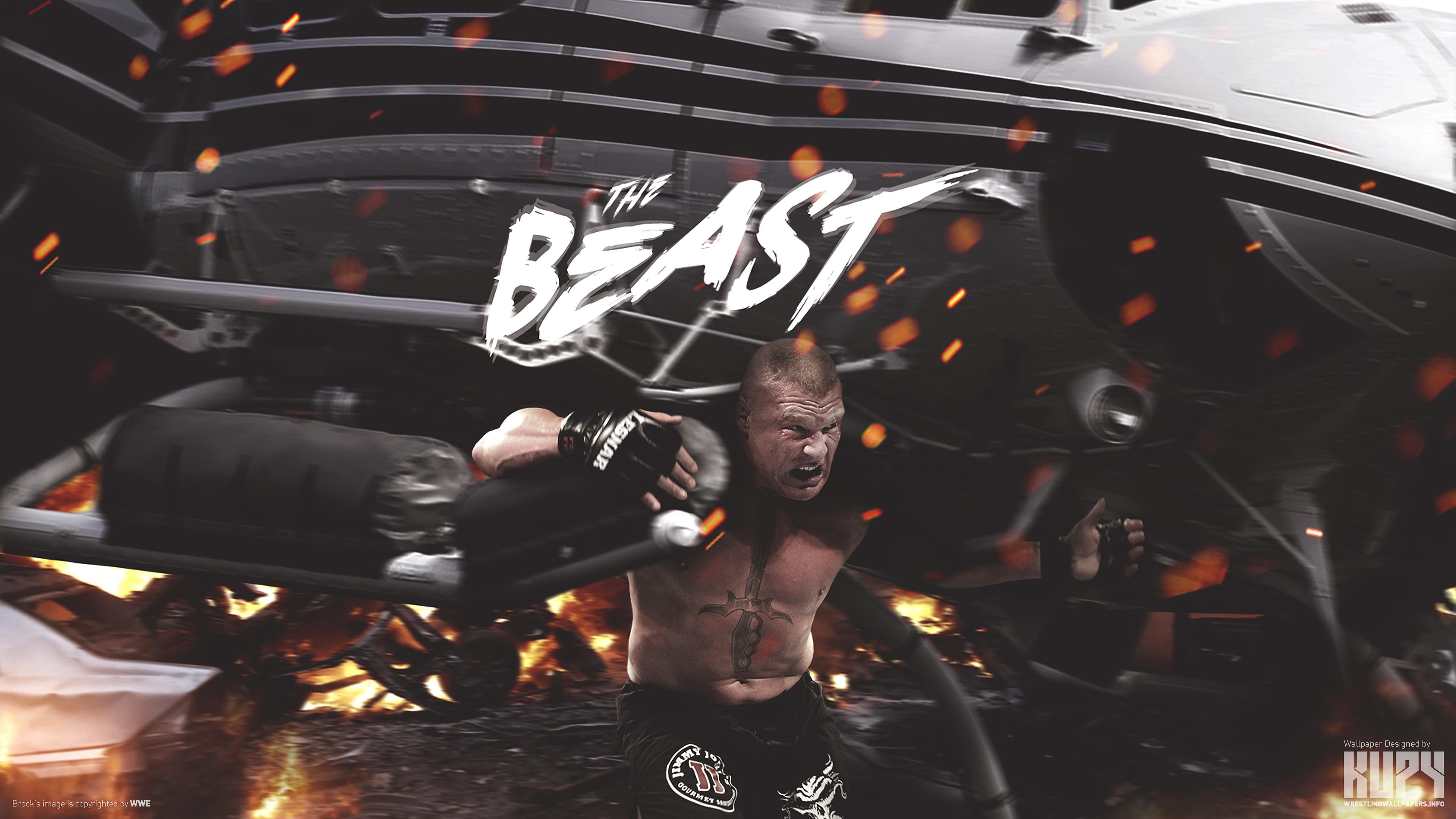 "The Beast"" Brock Lesnar wallpaper"