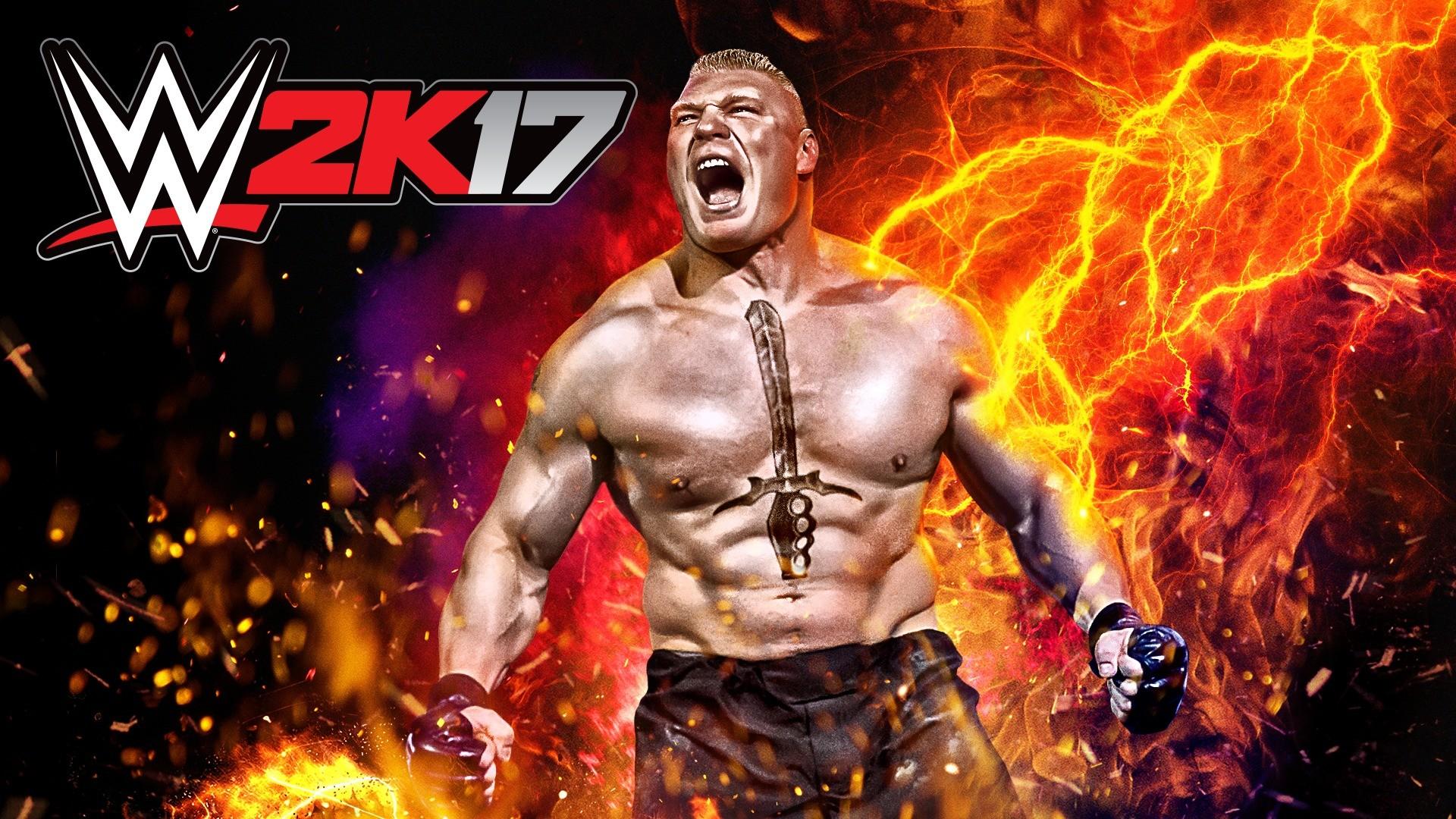 WWE 2K17 Brock Lesnar Wallpaper (Cover Art)