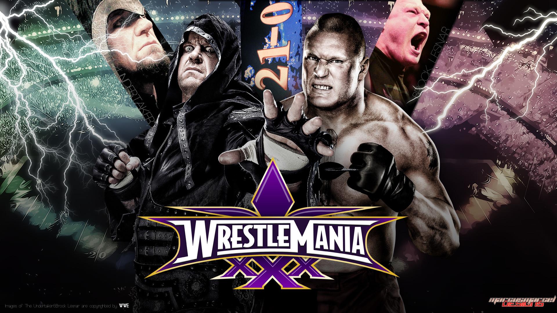 … WrestleMania XXX – Undertaker vs Brock Lesnar by MarcusMarcel