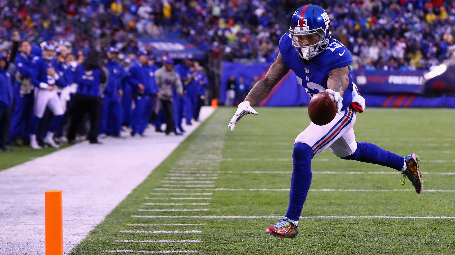Odell Beckham Jr. pulled off another great one-handed catch to lead to his
