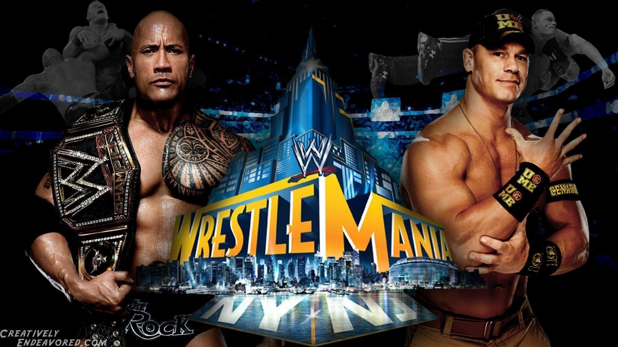 WrestleMania Wallpaper Wednesday: The Rock vs John Cena for the .