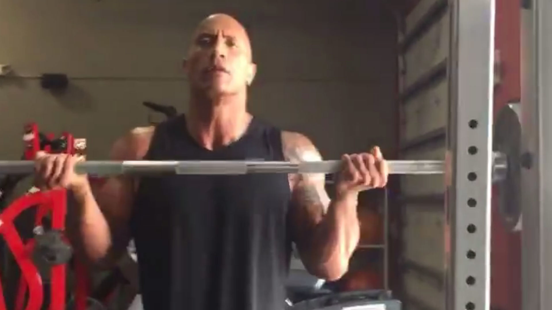 The Rock does crazy workout during first Facebook Live stream   Other  Sports   Sporting News