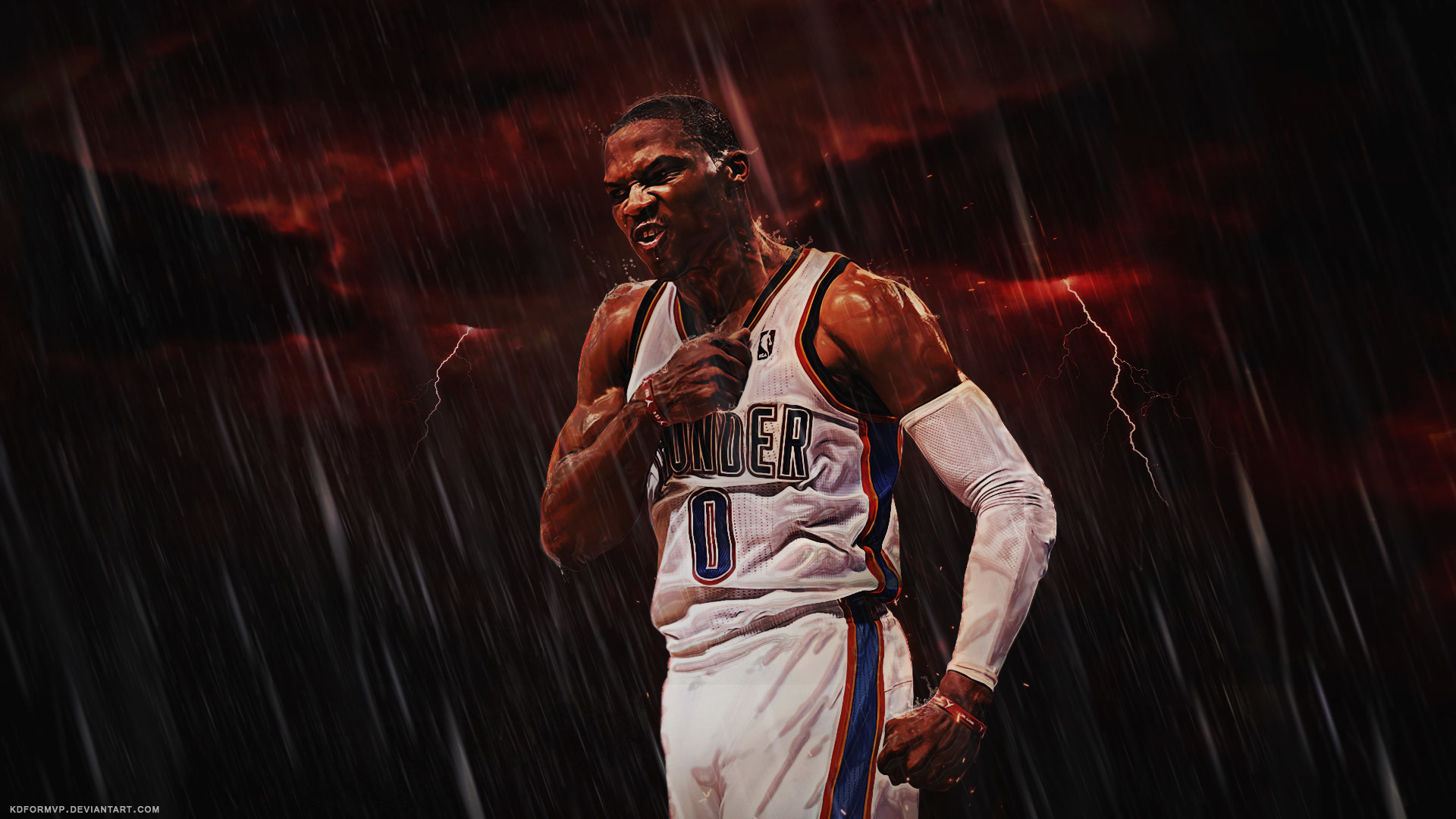 Russell Westbrook Thunder 2015-2016 Wallpaper