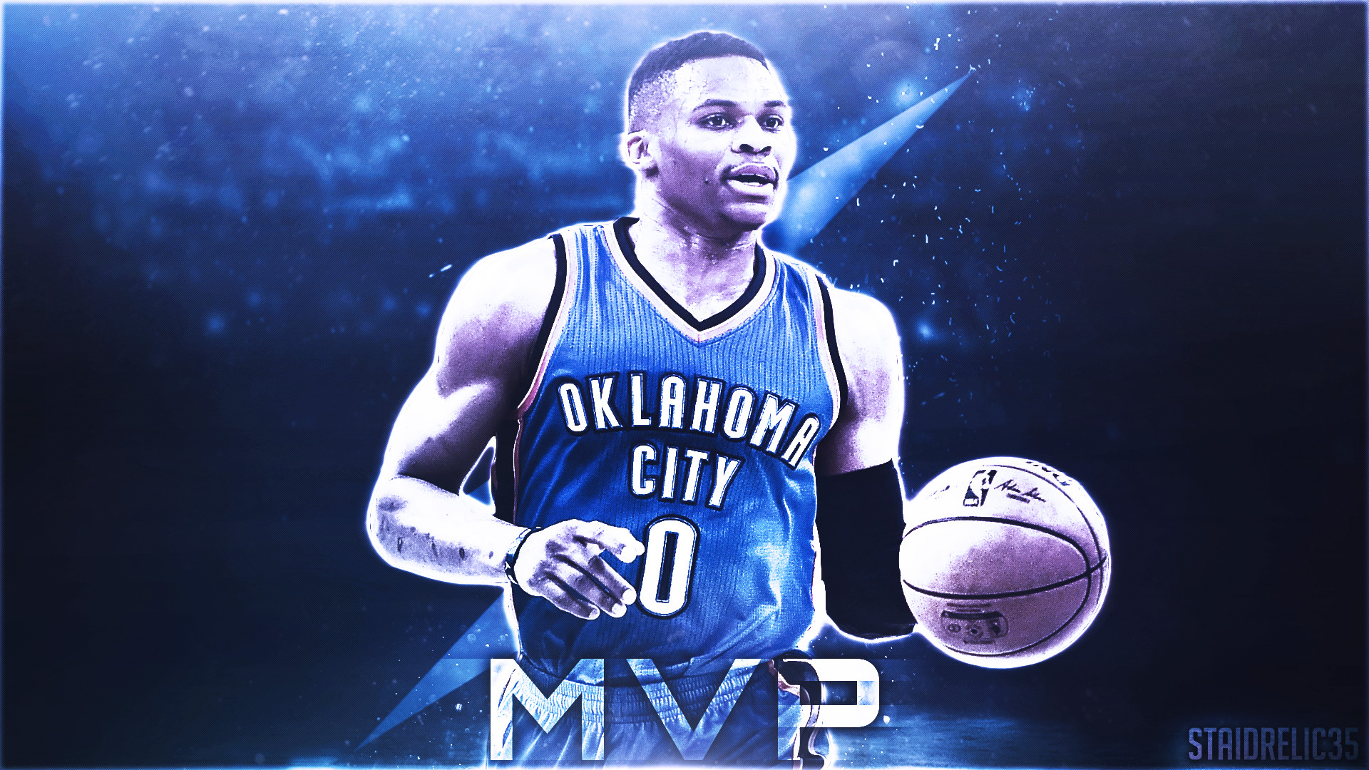 """Simple Russell Westbrook """"MVP"""" design I created. What do you guys think?"""