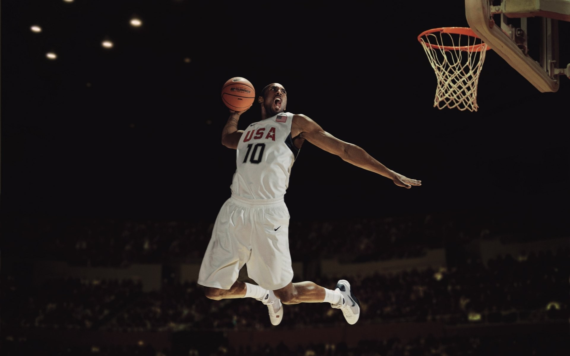 kobe bryant player basketball usa team hang slam dunk nike