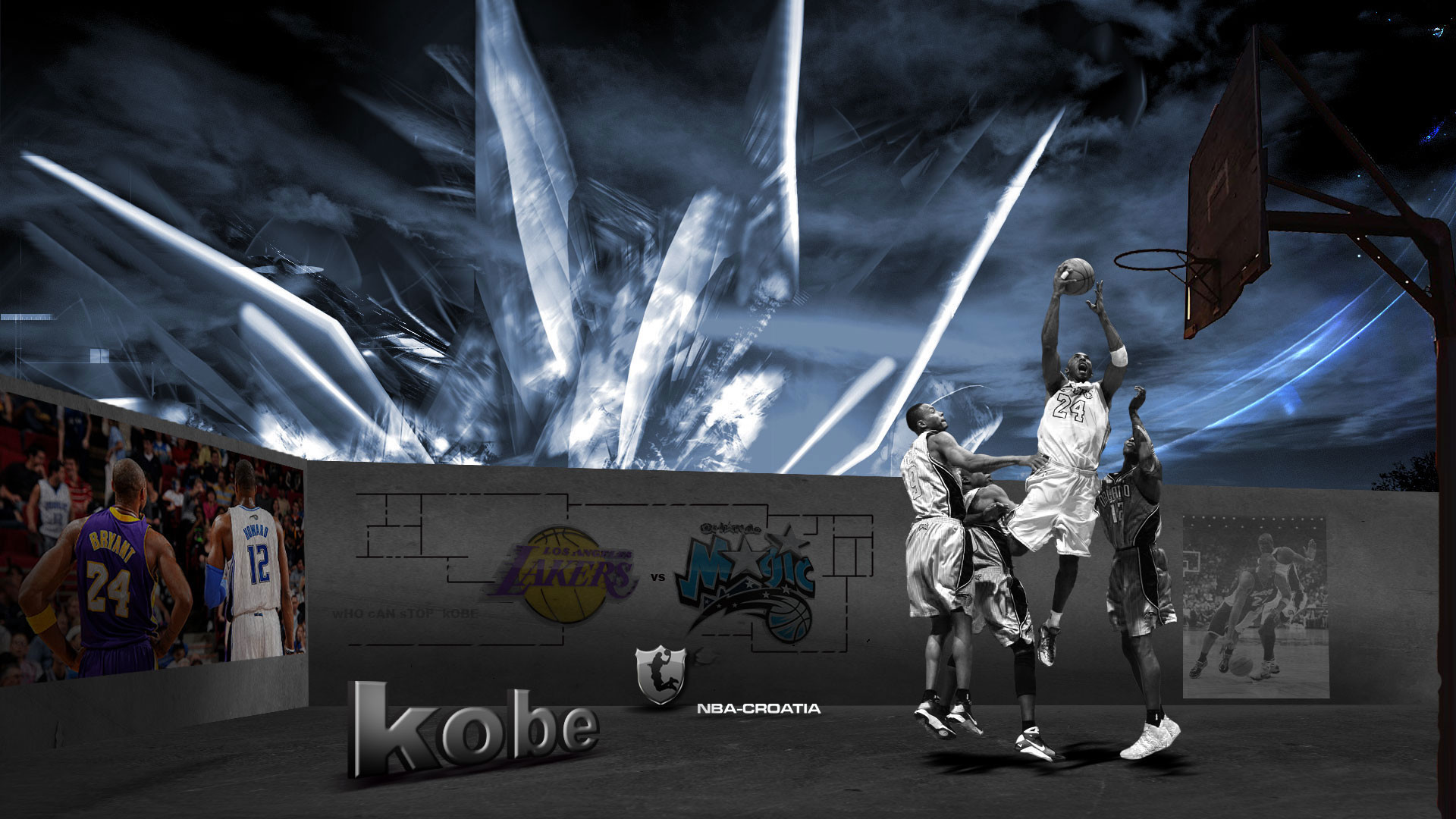 Kobe Bryant 2009 Finals Widescreen Wallpaper