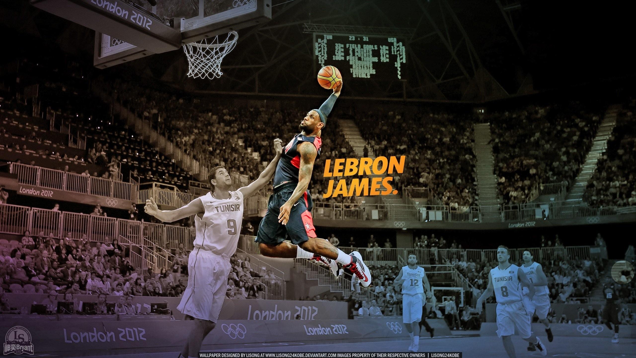 NBA Lebron James dunk basketball player wallpaper background