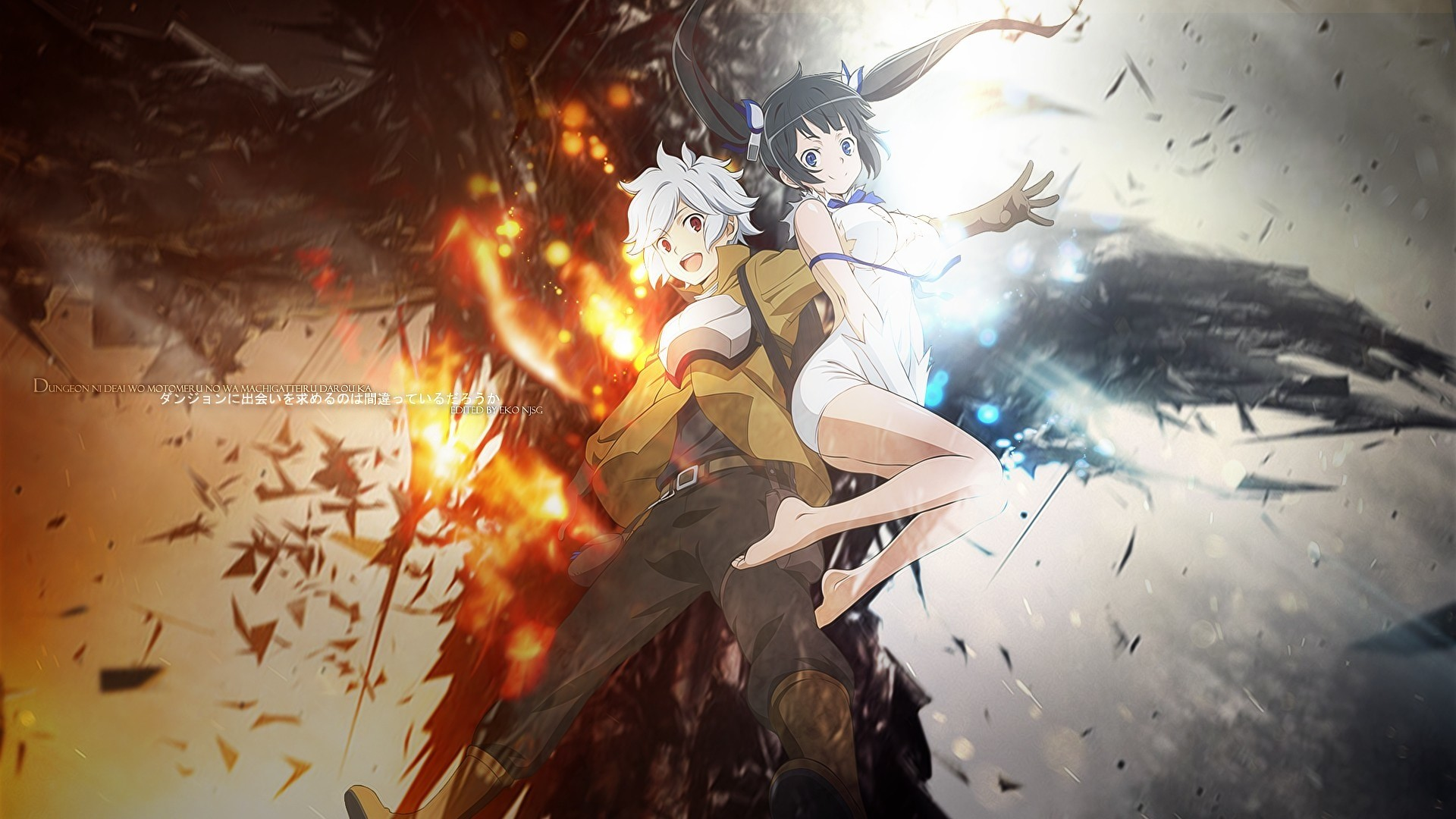 anime : dungeon ni deai wo motomeru no wa machigatteiru darou ka chara :  bell x hestia new anime and i think you must watch this anime hope y.