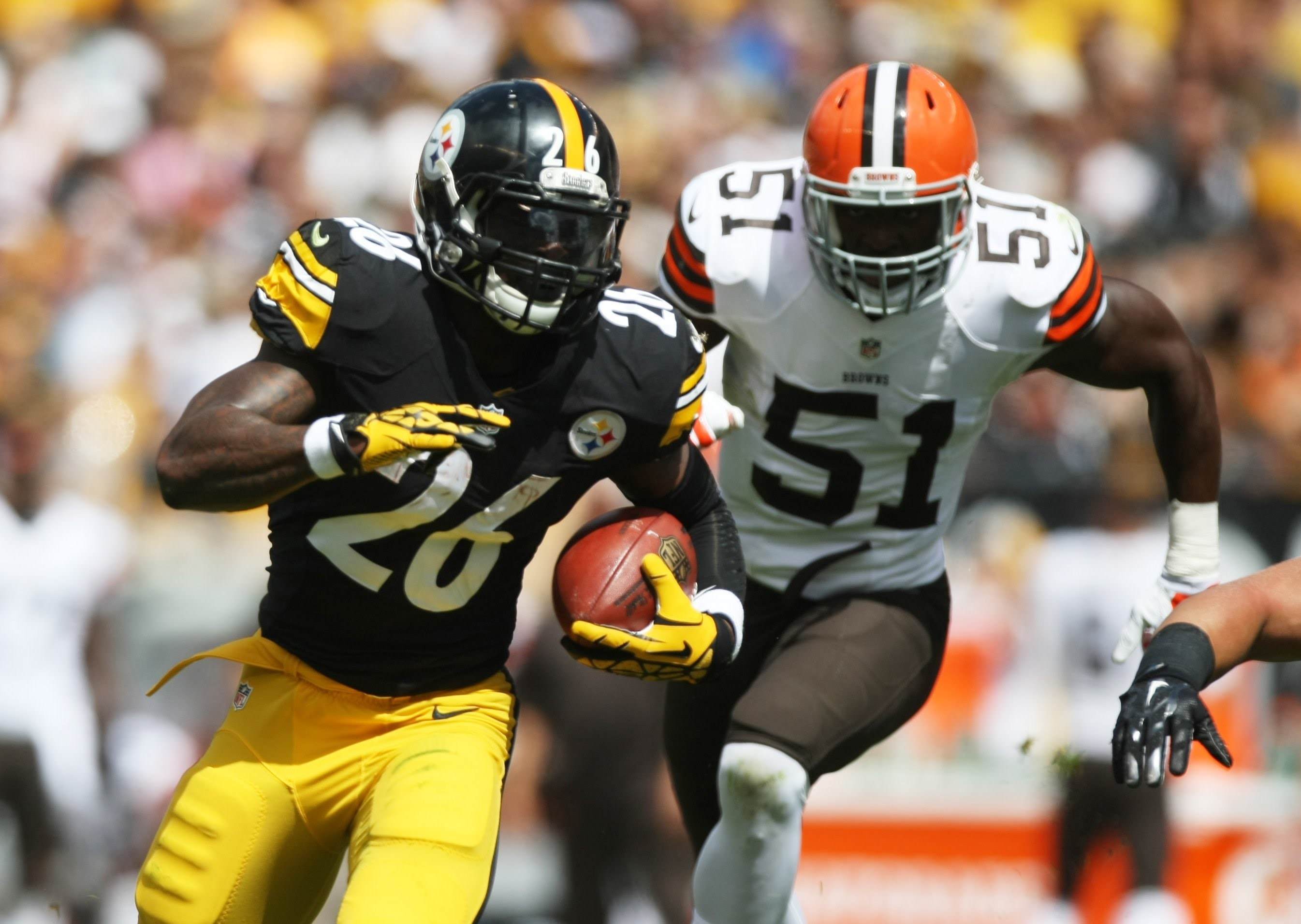 Le'Veon Bell Breaks Ankles on 38 yd TD run against the Browns – YouTube