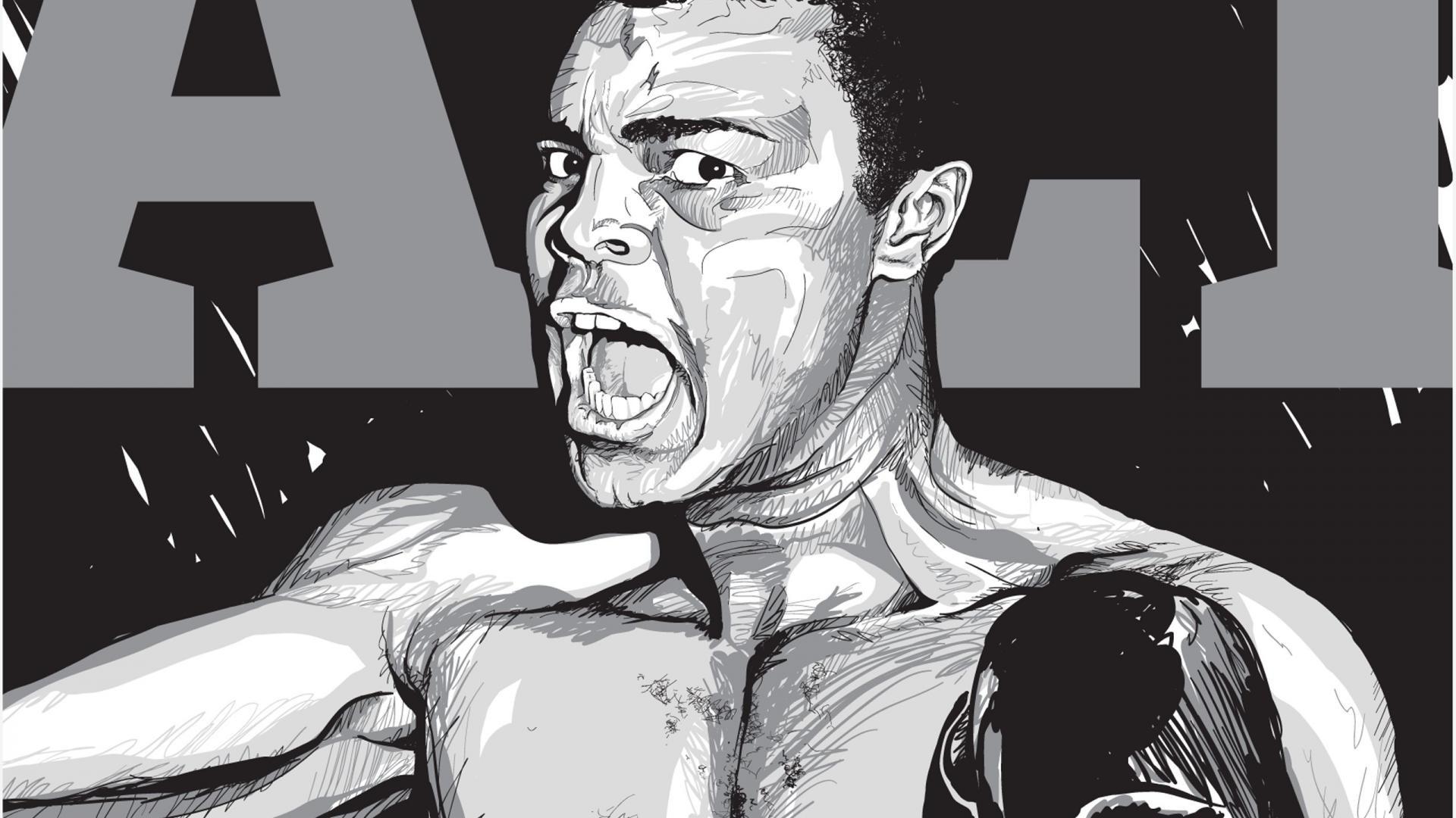 Muhammed Ali Clay Cizgi Muhammad Ali Wallpaper 1920×1080