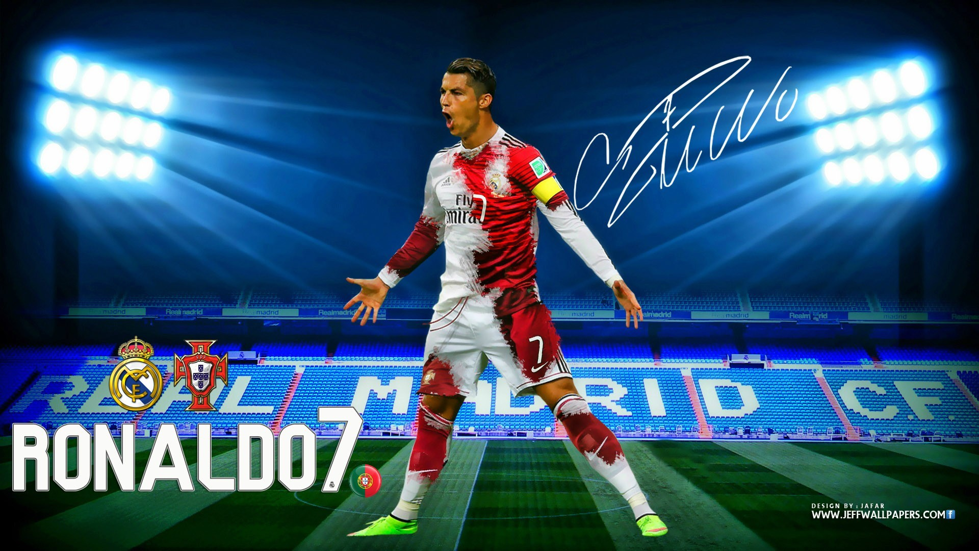 Download Cristiano Ronaldo CR7 Real Madrid Kit 2015 HD Wallpaper .