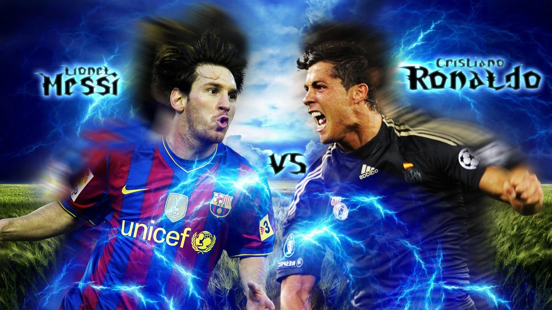 Cristiano Ronaldo Vs Lionel Messi 2017 Wallpapers 8
