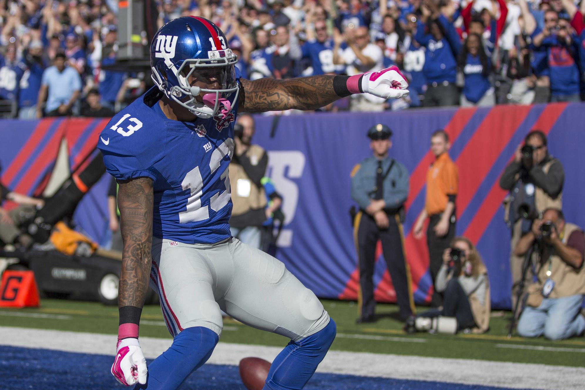 Men's New York Giants Odell Beckham Jr #13 Royal Blue Game Stitched NFL  Jersey