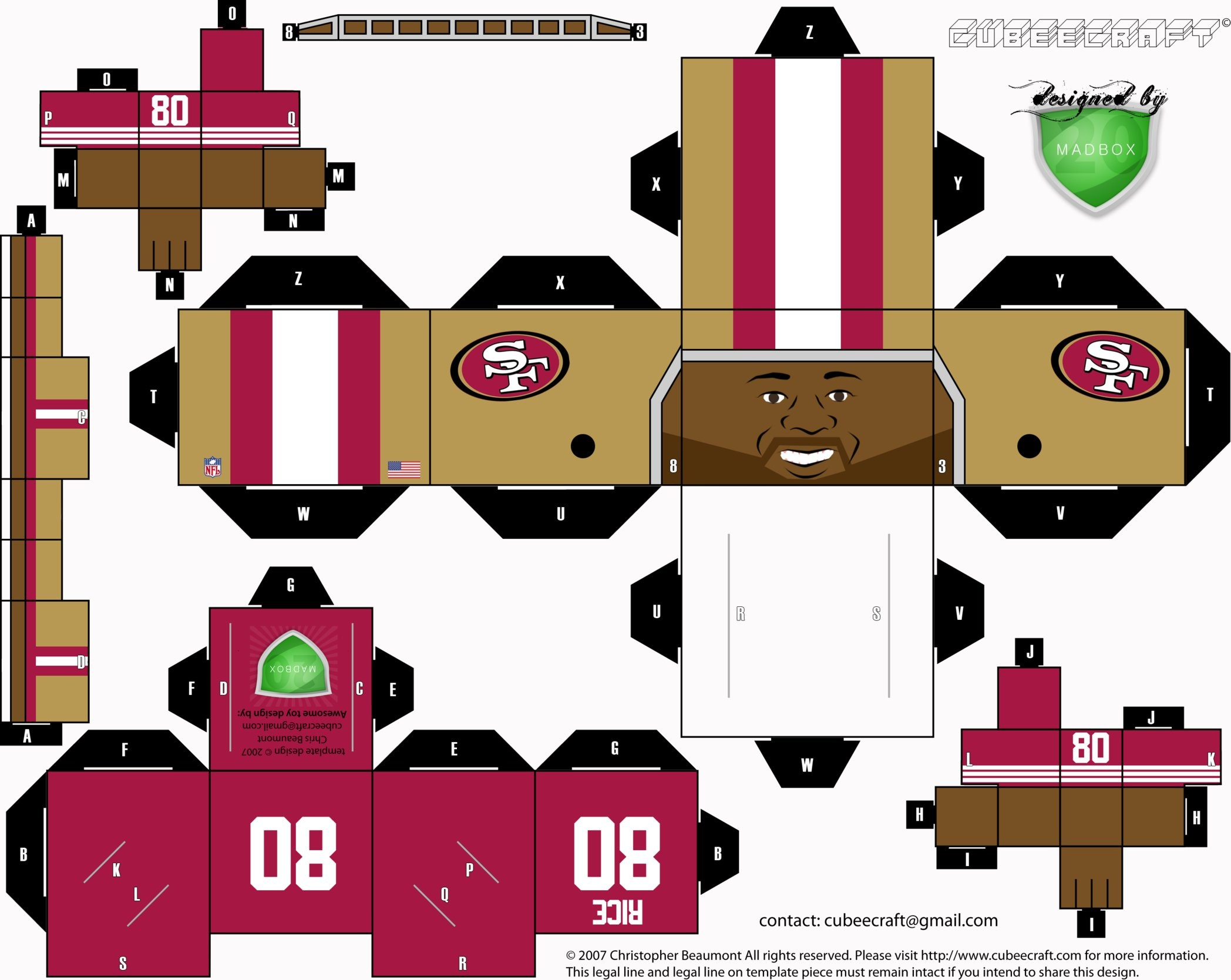 Jerry Rice Cubee by 1madhatter …