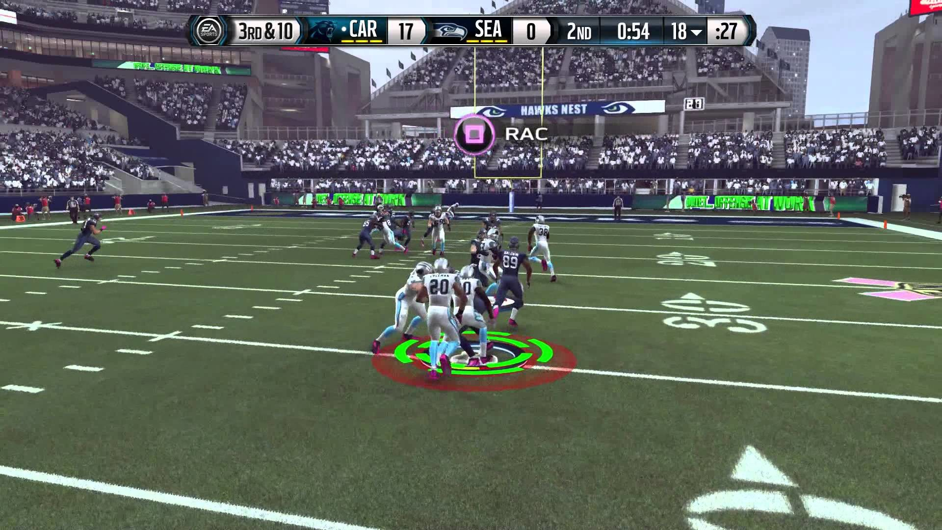 Madden 16 Jerry Rice Seahawks Career Mode Ep 7 vs Panthers