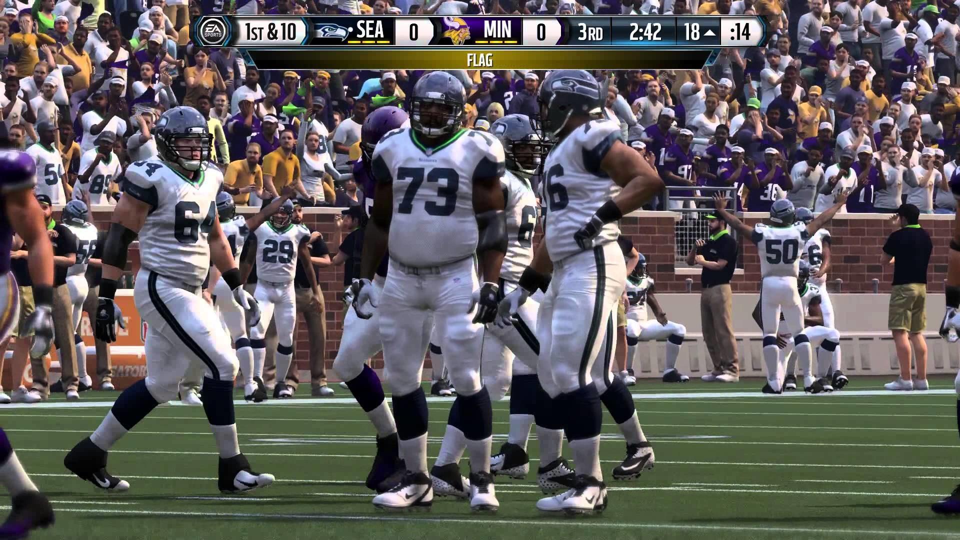 Madden 16 Jerry Rice Seahawks Career Mode Ep 13 vs Vikings