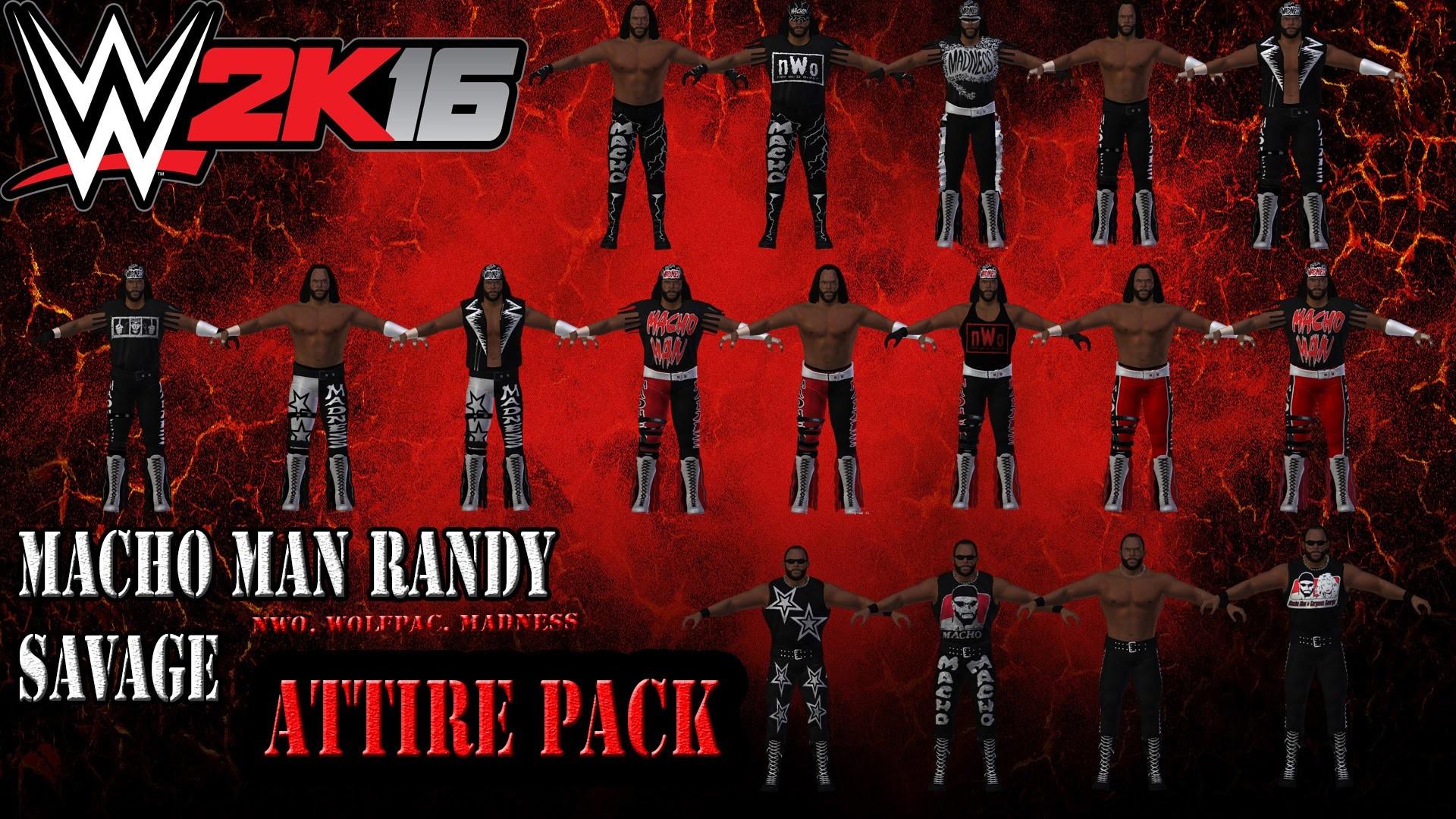 WWE 2K16 MODS: Macho Man Randy Savage – 15+ Attire Pack (WCW, NWO, Wolfpac)  – YouTube