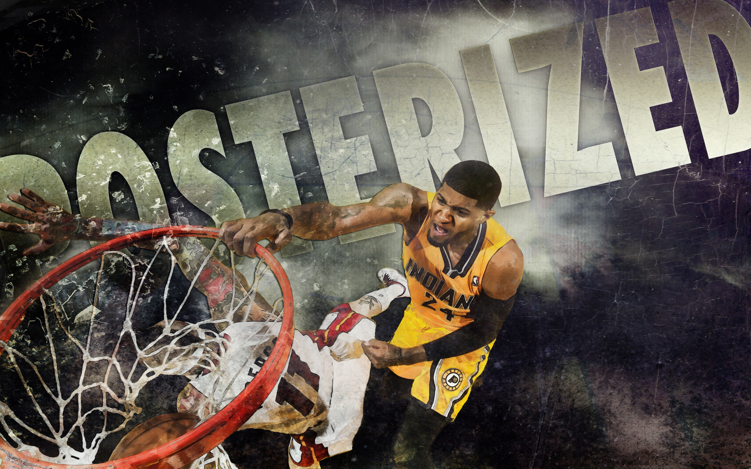 Paul George Dunk Over Birdman 2013 2560×1600 Wallpaper | Basketball .