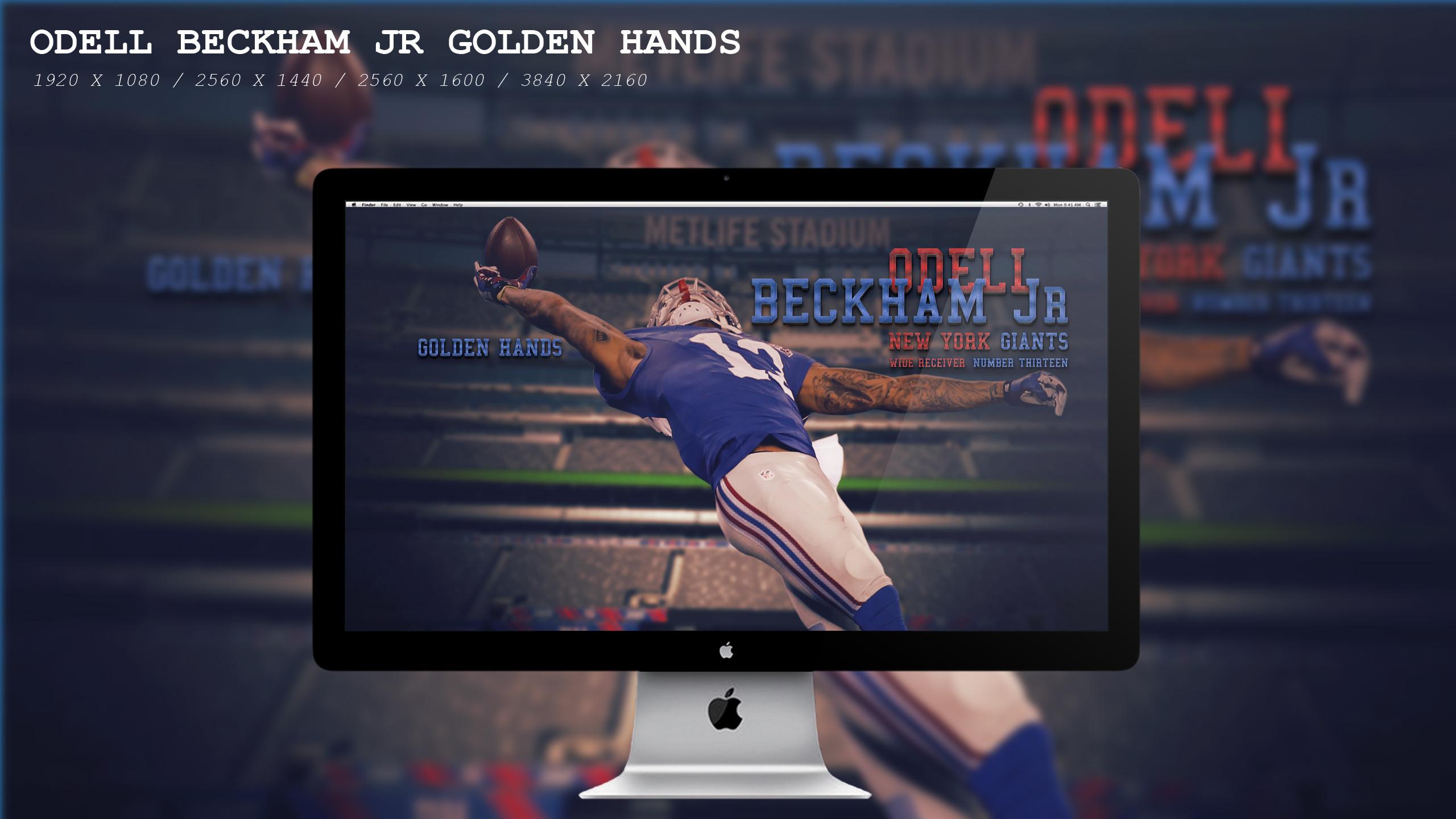Odell Beckham Jr Golden Hands Wallpaper HD by BeAware8 on DeviantArt