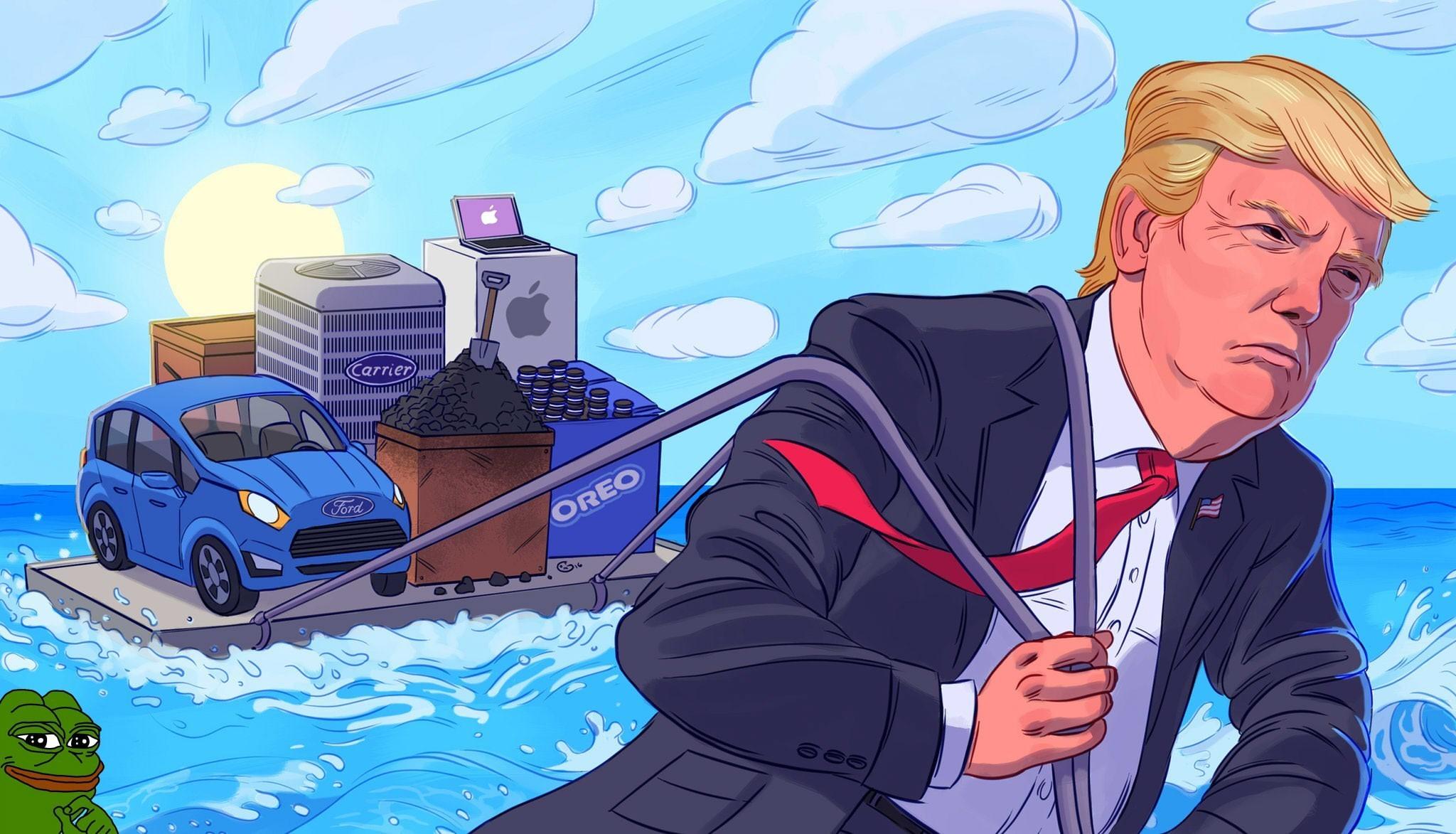 Donald Trump Wallpaper Art.