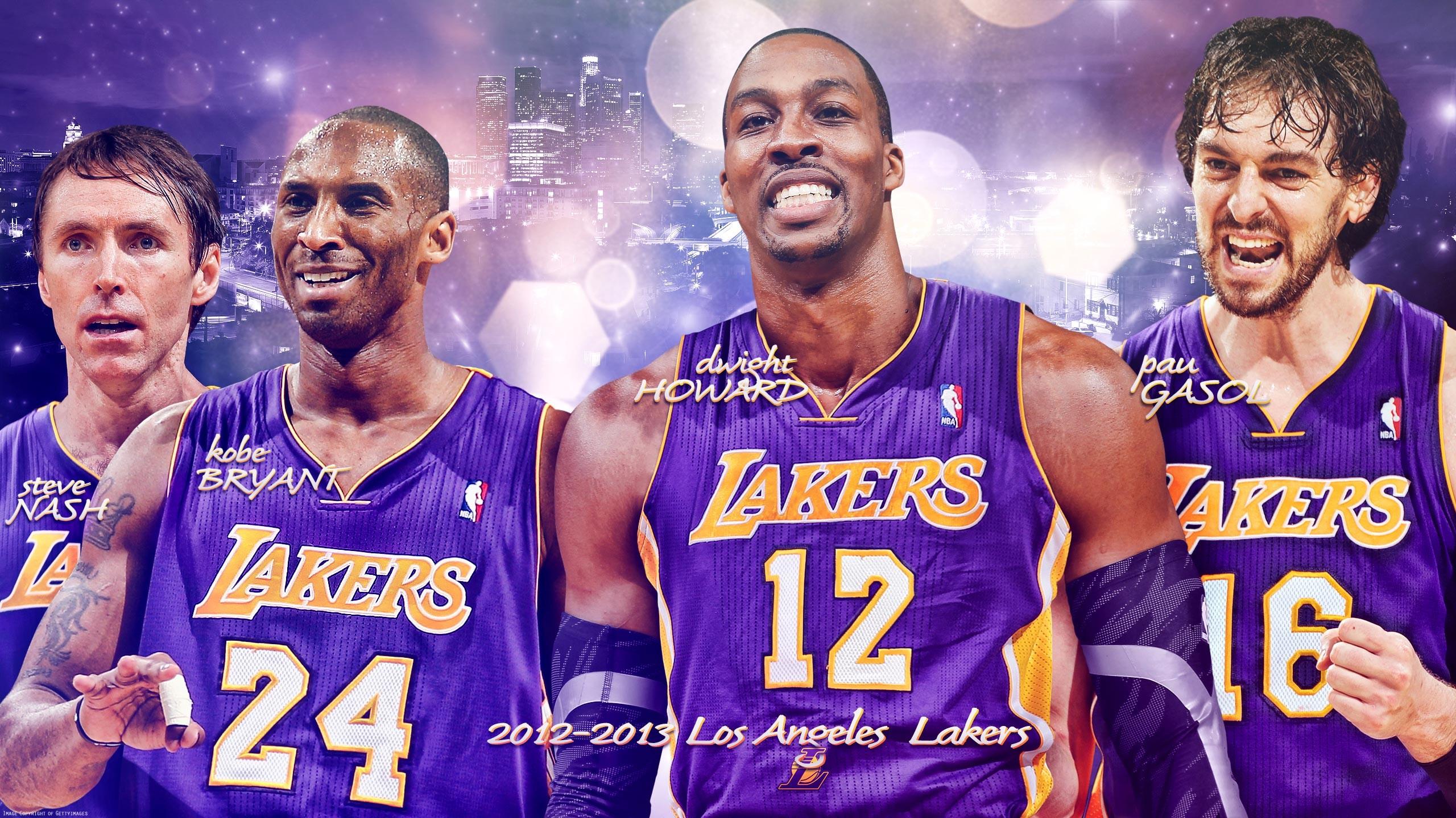 Los Angeles Lakers Big 4 Wallpaper