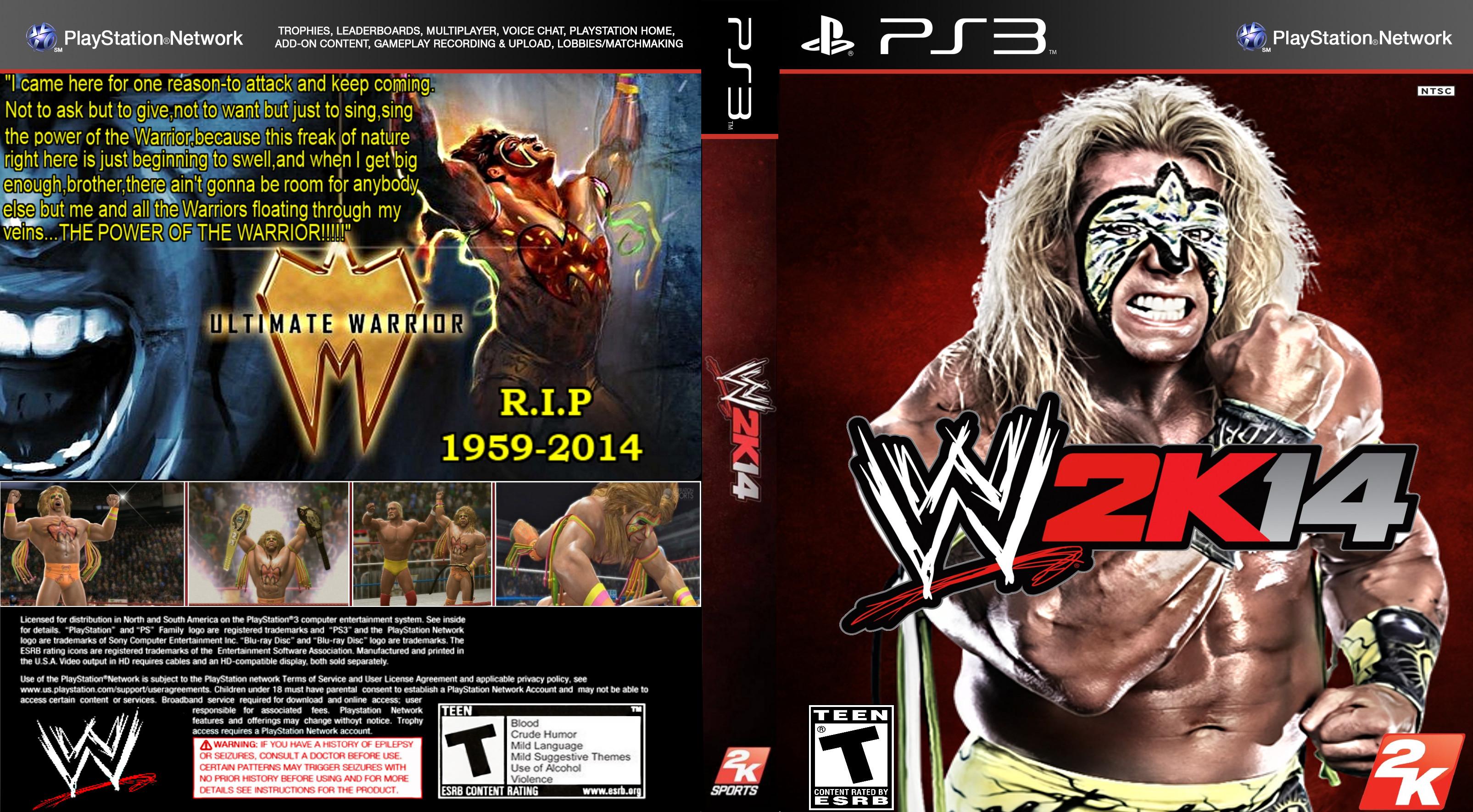… EliteSaiyanWarrior Ultimate Warrior Wwe2k14 Tribute Cover(PS3) by  EliteSaiyanWarrior