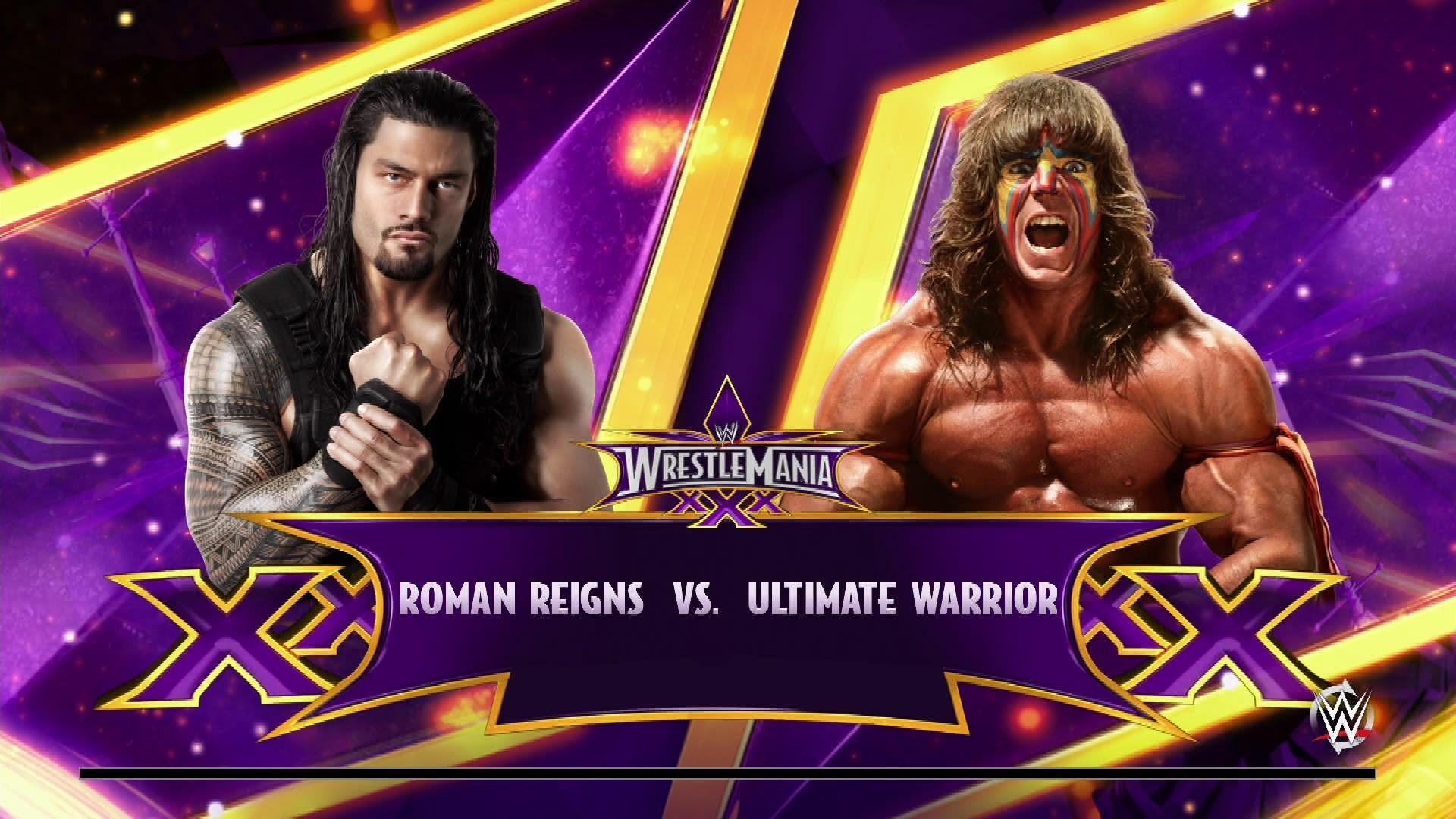 NEXT GEN WWE 2K15 Fantasy Showdown: Roman Reigns vs. Ultimate Warrior –  YouTube