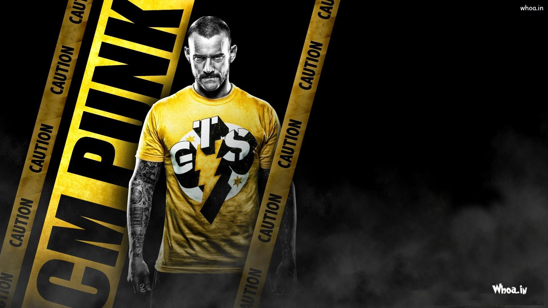 … CM Punk Caution With Yellow T-Shirt HD WWE Wallpaper …
