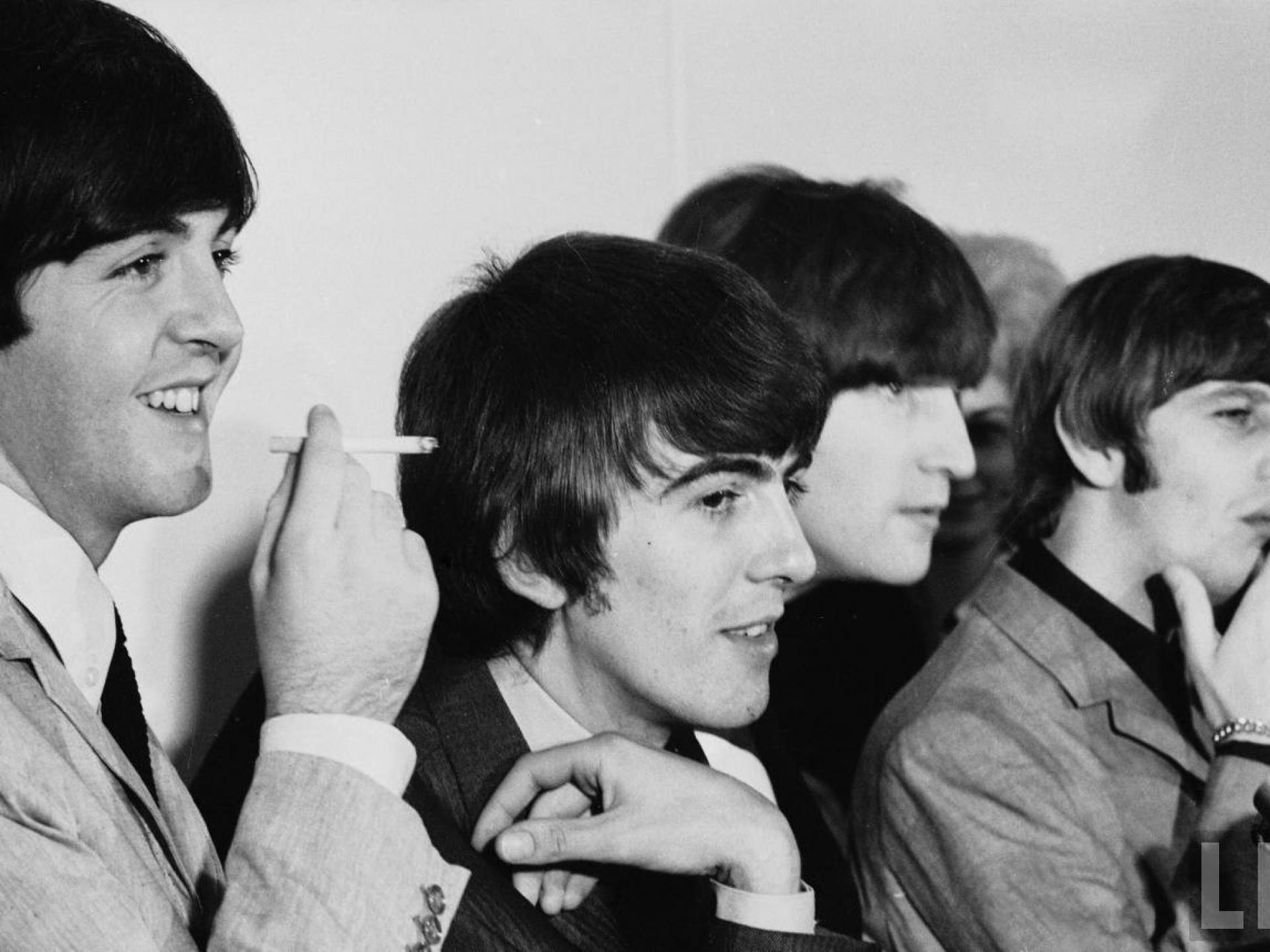 smoking music the beatles john lennon george harrison ringo starr paul  mccartney 1964 1280×861 wa Art