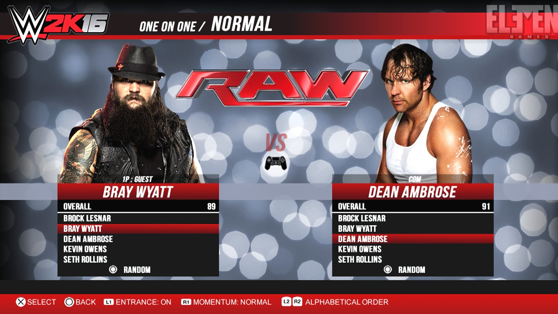 Welcome back to a new WWE video! Watch the fresh, new animations flow as  the lunatic fringe Dean Ambrose takes on the eater of worlds Bray Wyatt in  WWE .