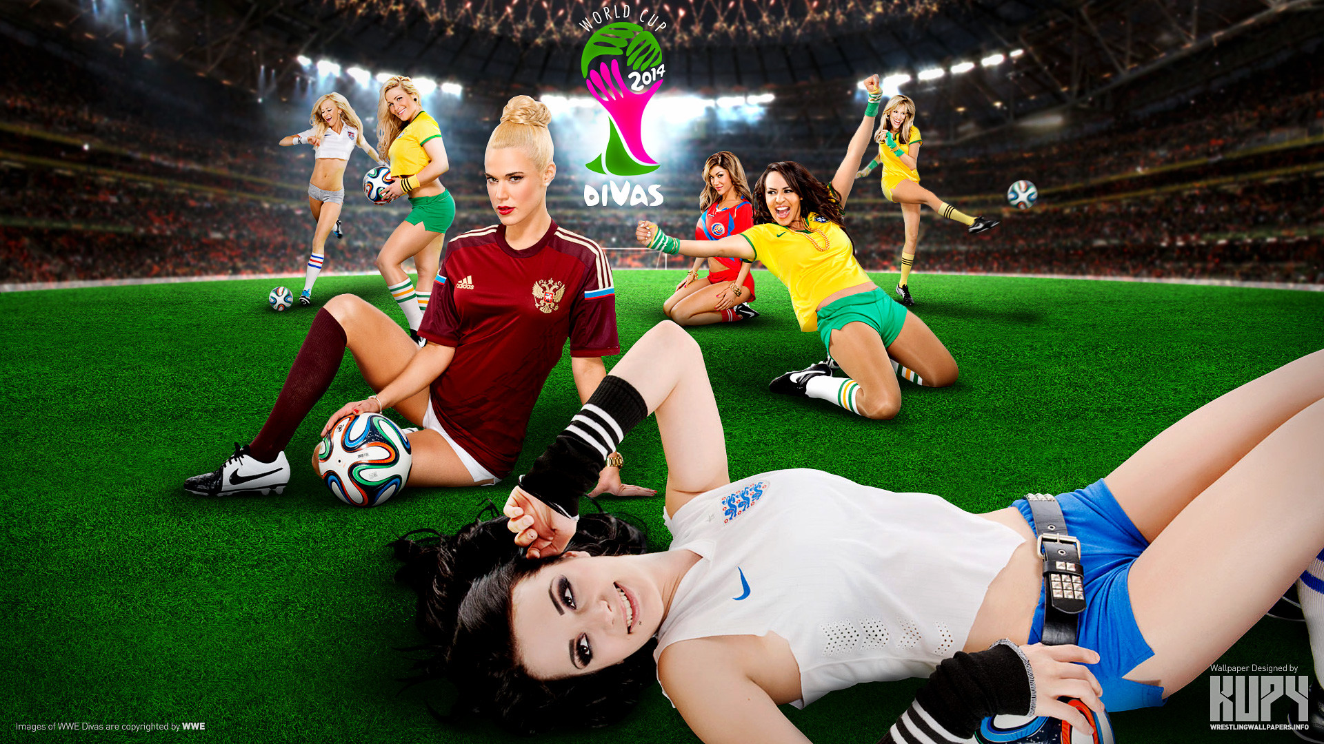 To download click on WWE Divas Cup 2014 Wallpaper then choose save .