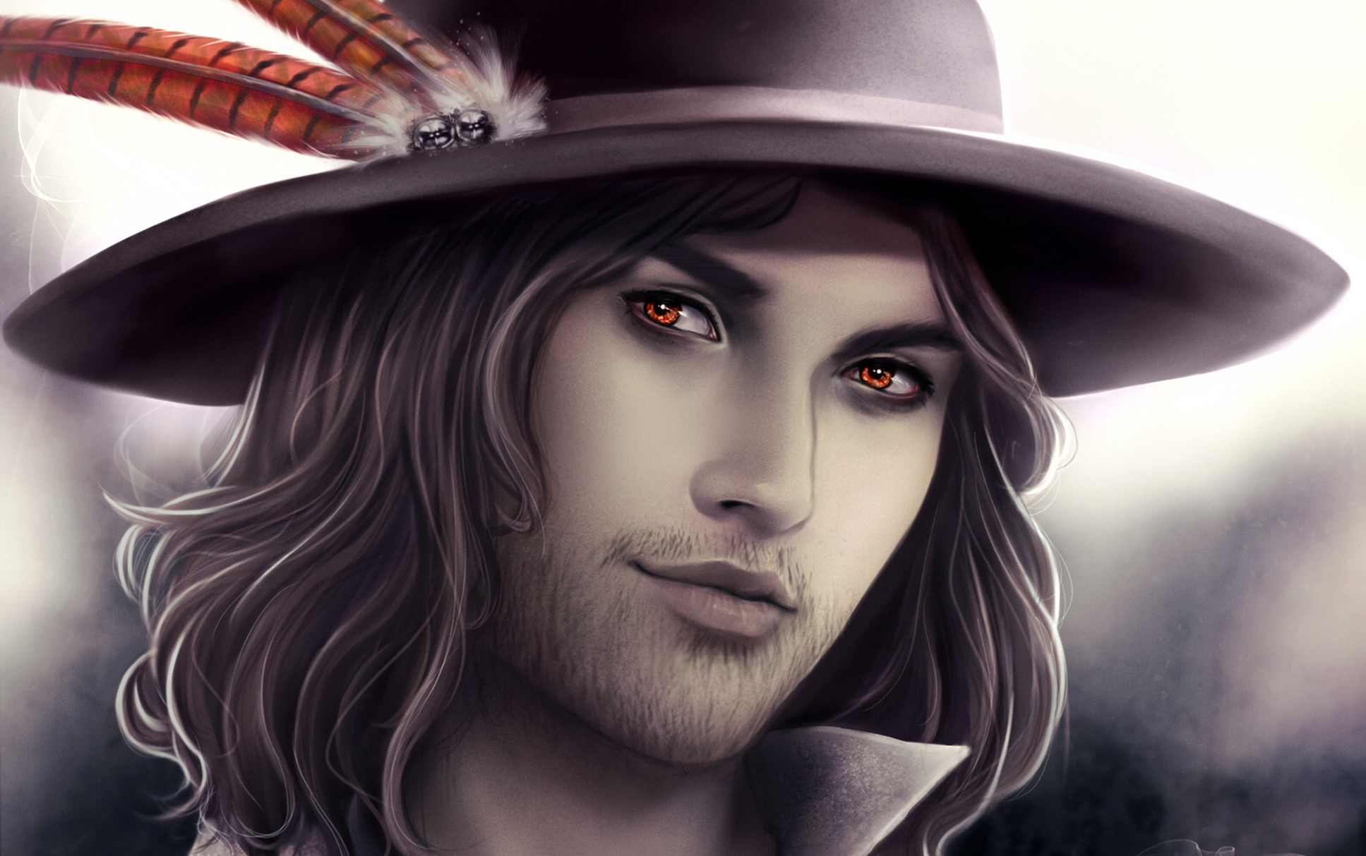 … style, men, digital painting, model, vampire, desktop wallpaper hd
