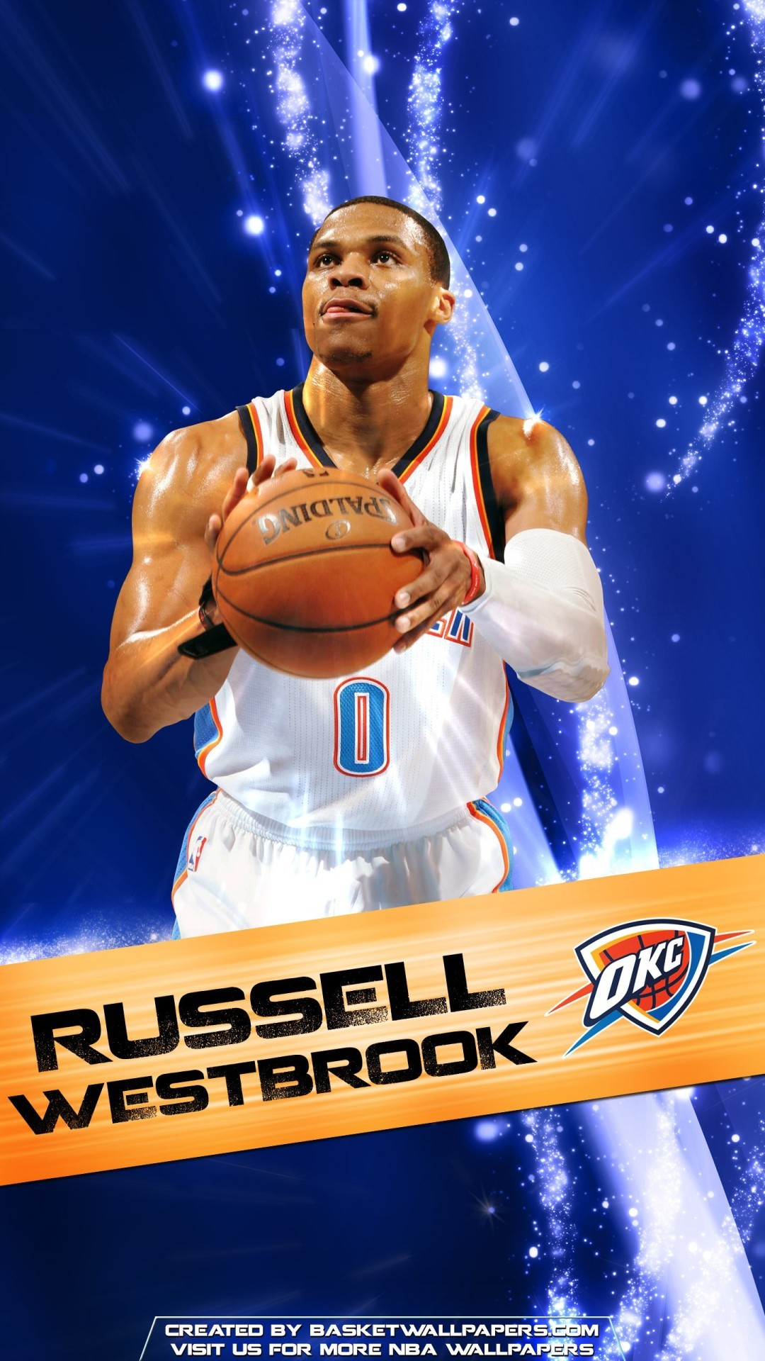 View Larger Image Russell Westbrook NBA iPhone Wallpaper