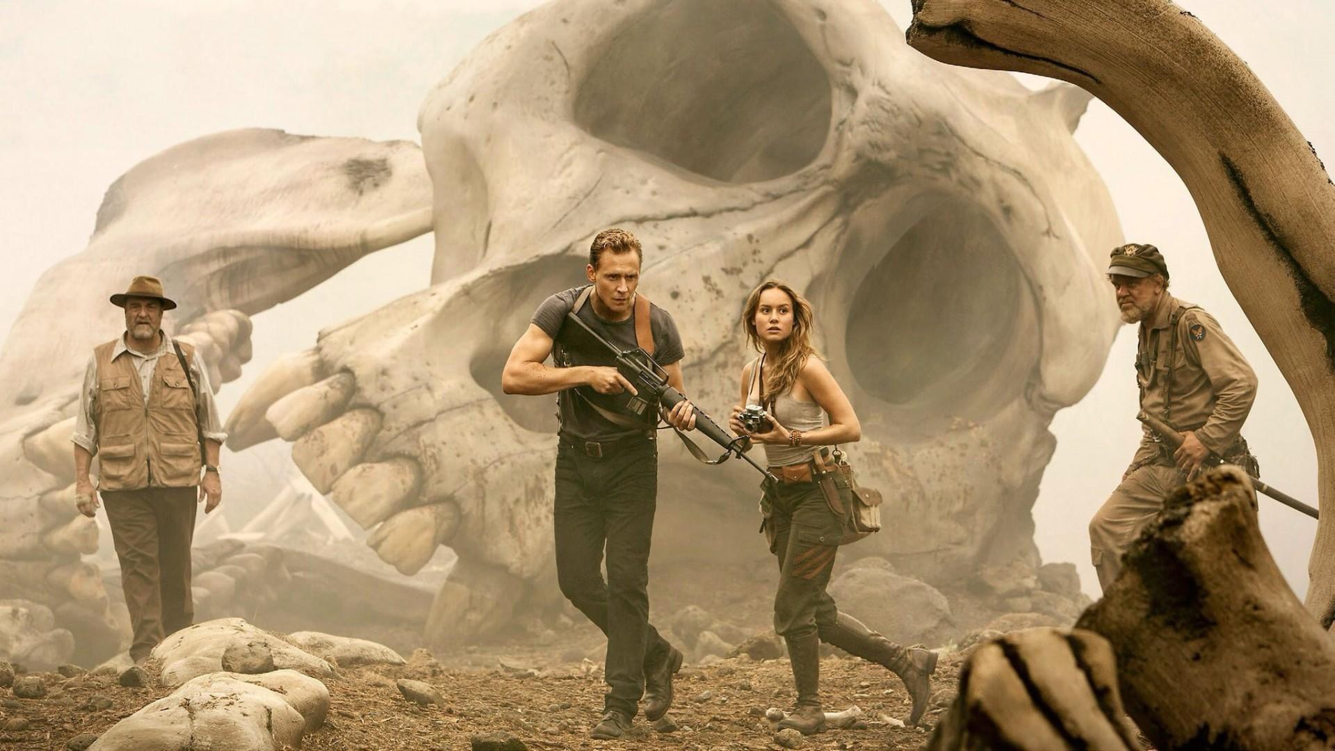 Wallpaper Tom Hiddleston, Brie Larson, Kong: Skull Island, HD, Movies, #3768