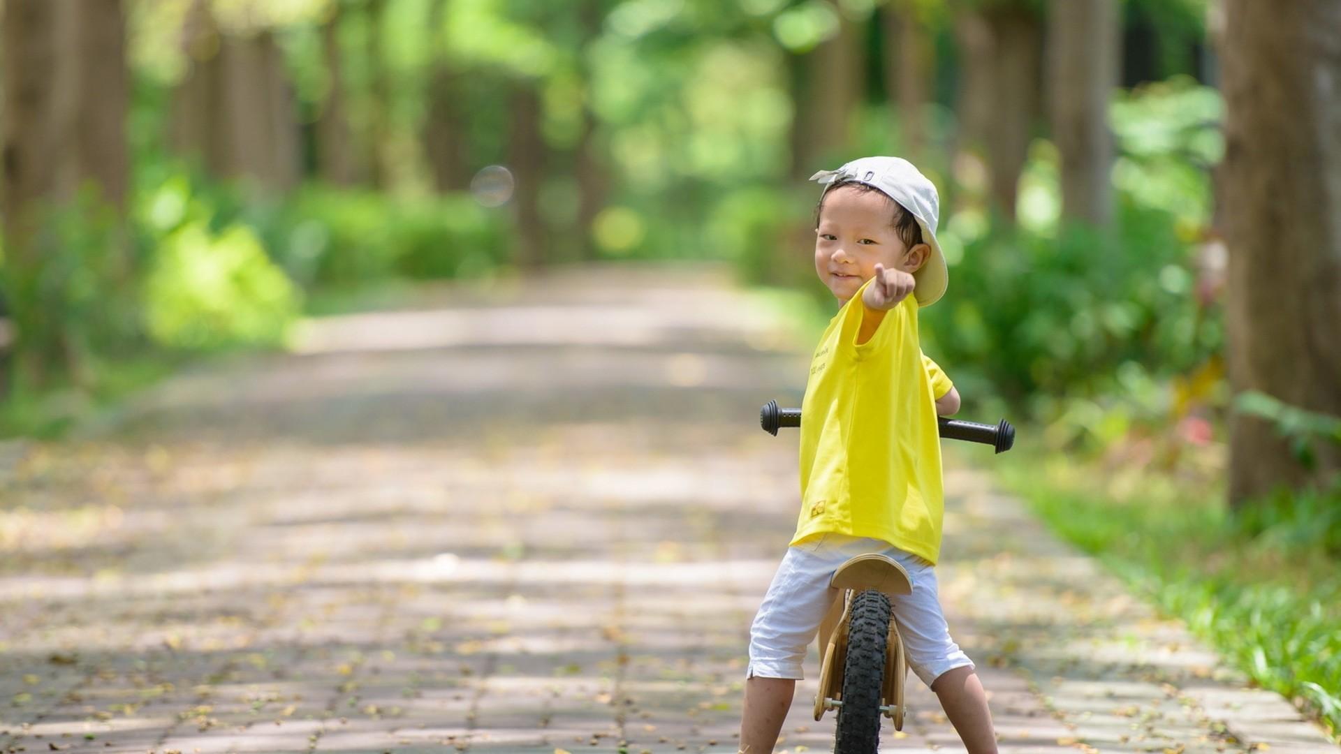 Wallpaper boy, bicycle, mood