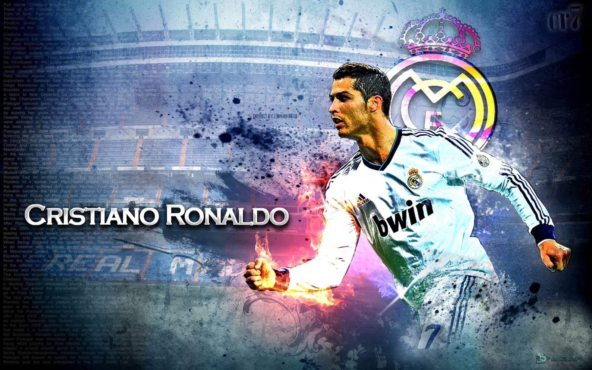 Cristiano Ronaldo HD White Jersey Wallpaper #3407   Foolhardi.