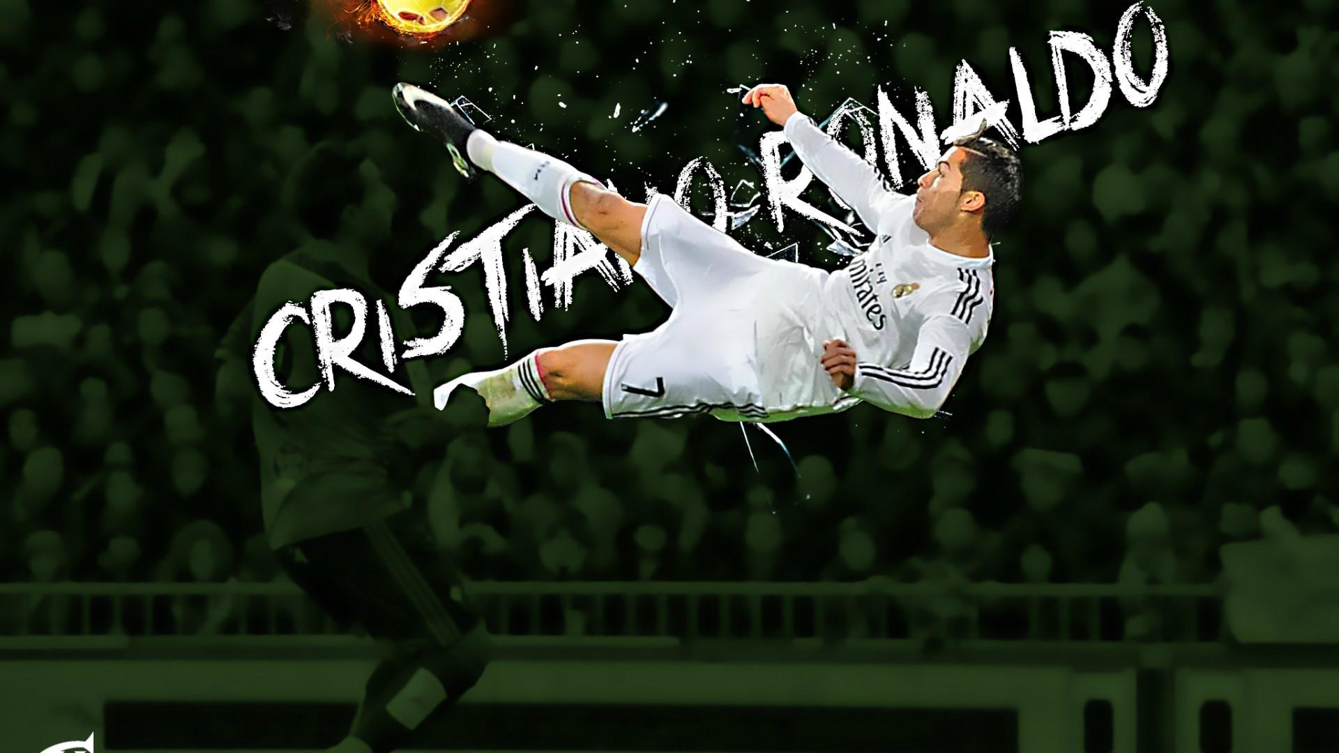 Download Cristiano Ronaldo CR7 Flying Shot Football HD Wallpaper .