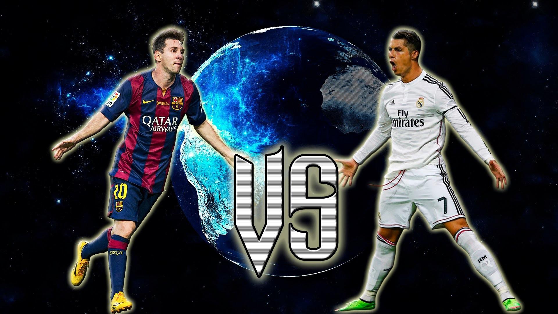 Cristiano Ronaldo Vs Lionel Messi 2017 Wallpapers 7