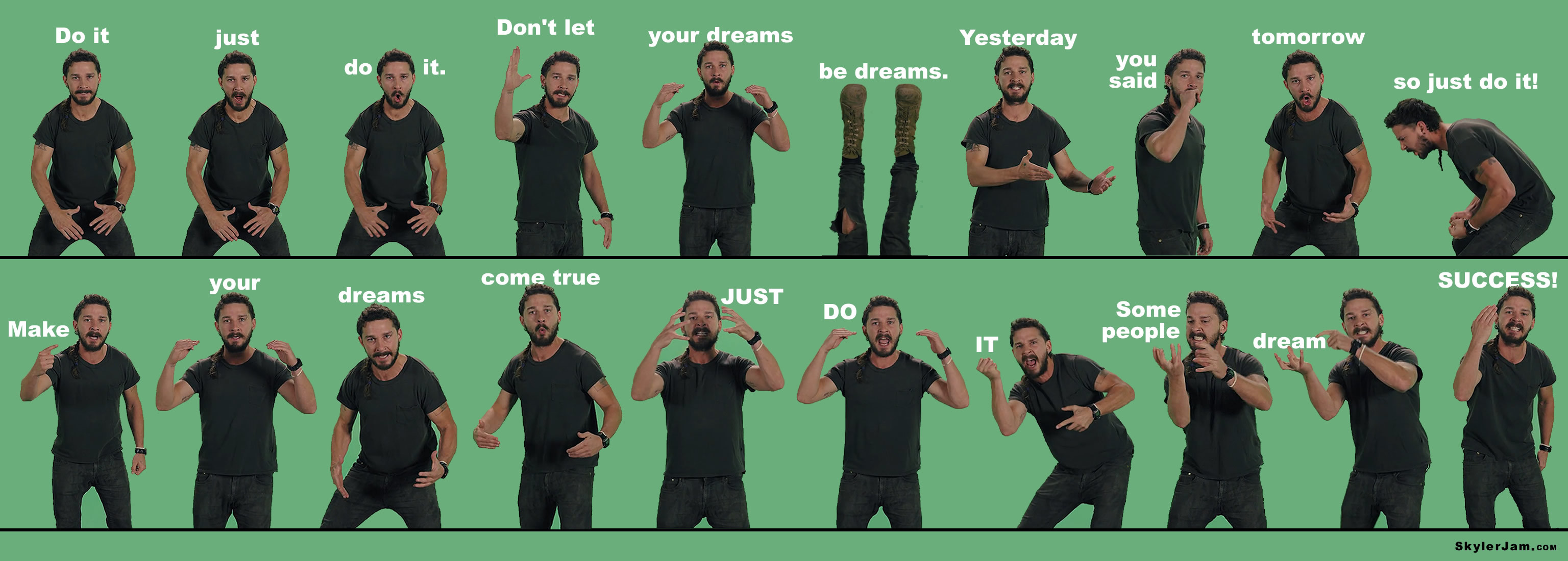 shia+motivation | 20 Motivational Shia LaBeouf Poses and quotes to get you  pumped for