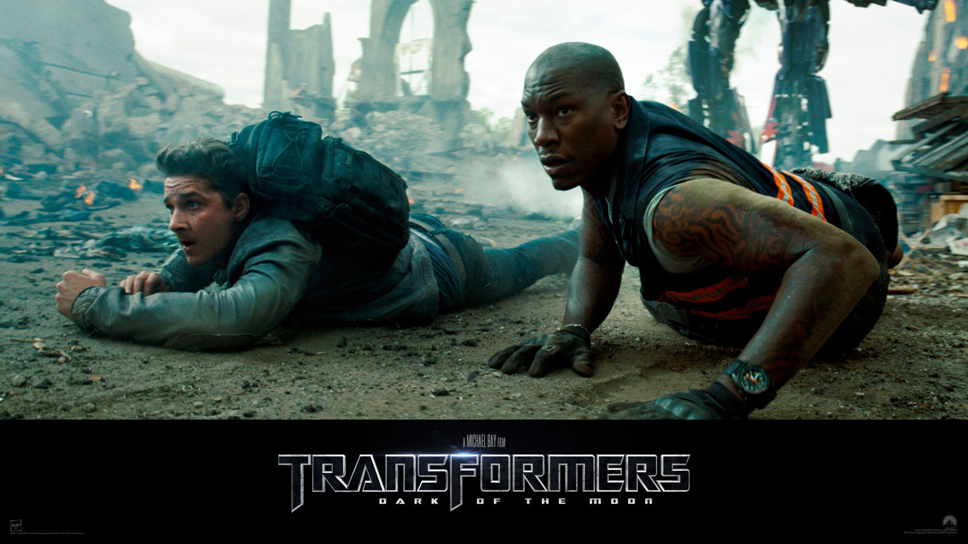 Transformers: Dark of the Moon – Wallpaper with Shia LaBeouf & Tyrese Gibson