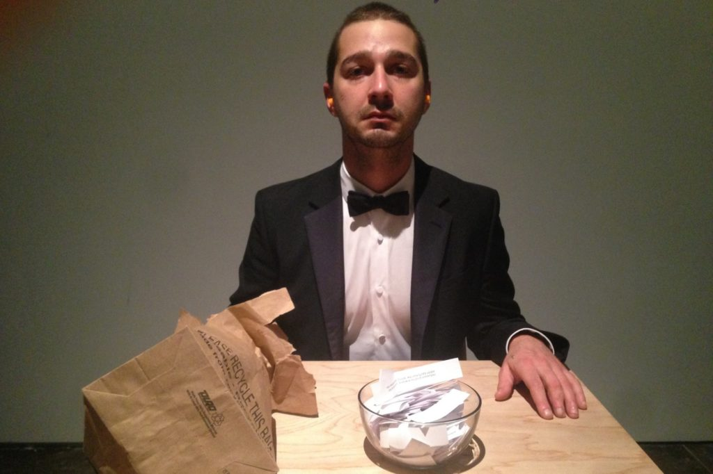 I Watched Shia LaBeouf Cry at His Weird LA Art Project #IAMSORRY – The Daily