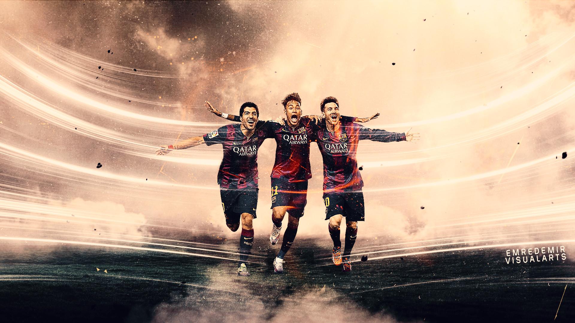 … EmreDemirVisualArts Neymar , Suarez , Messi by EmreDemirVisualArts