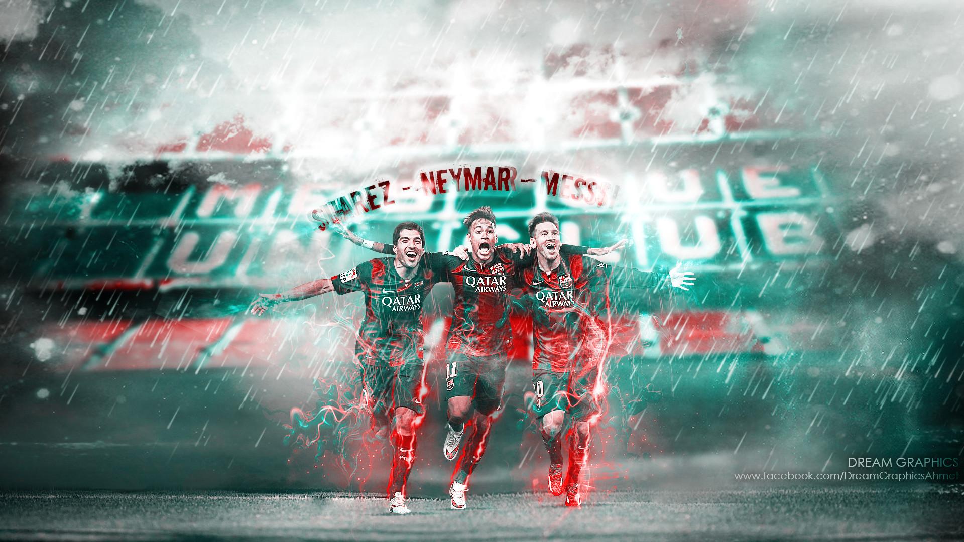 Suarez Neymar Messi by dreamgraphicss Suarez Neymar Messi by dreamgraphicss