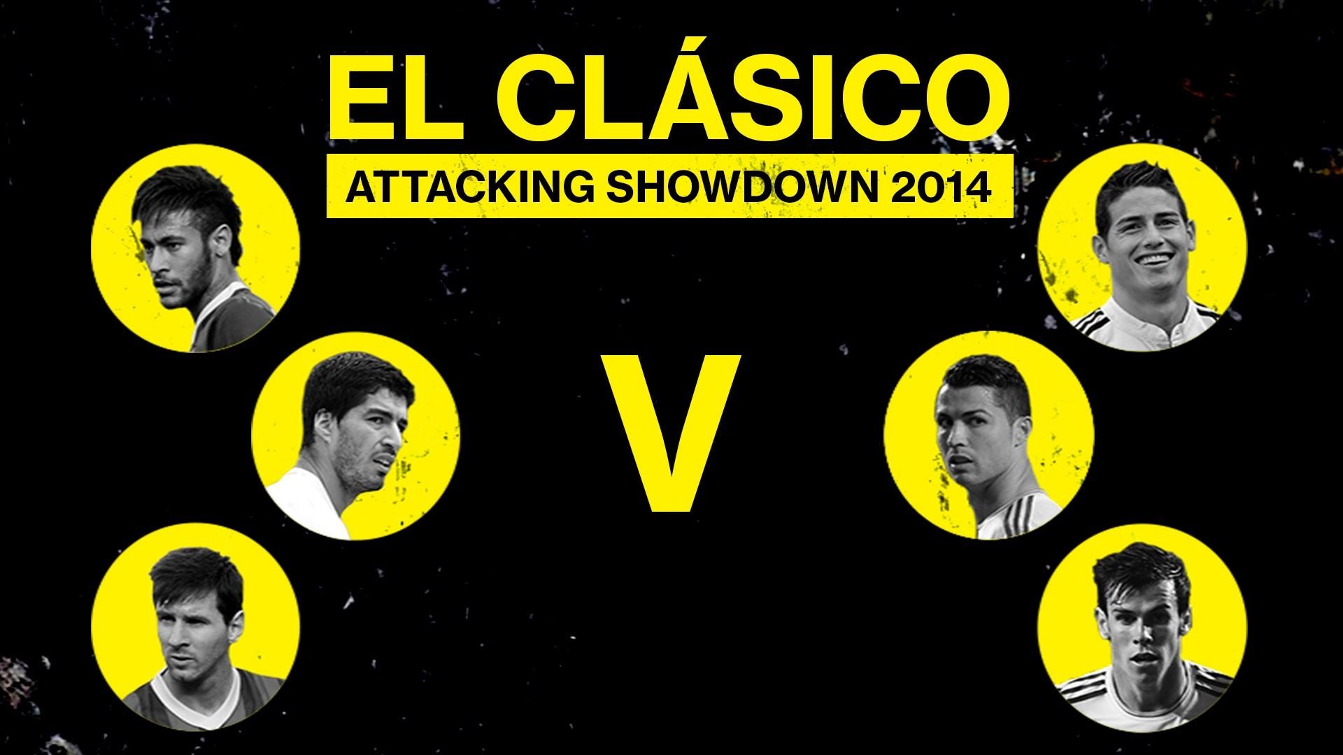 Messi, Neymar & Suarez v Ronaldo, Bale & James   El Clásico Showdown –  YouTube