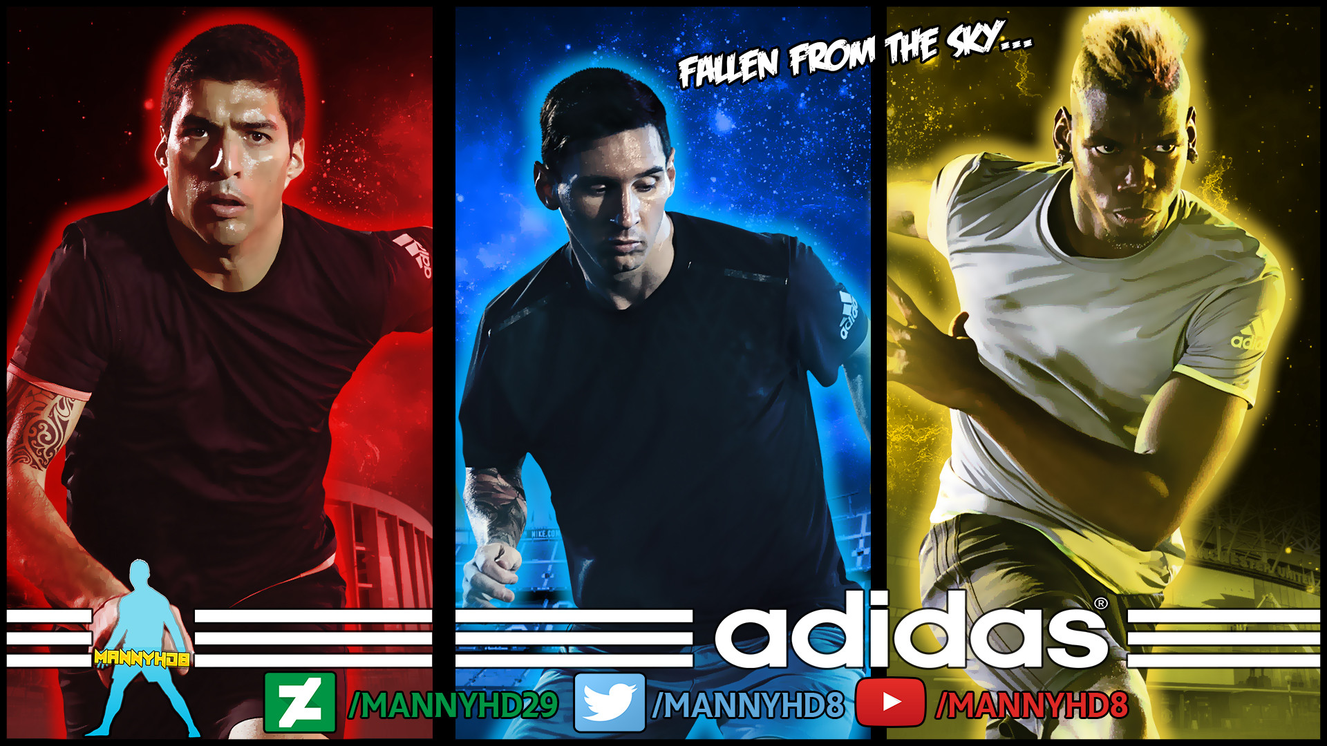… Luis Suarez , Messi and Paul Pogba – Wallpaper by MannyHD29