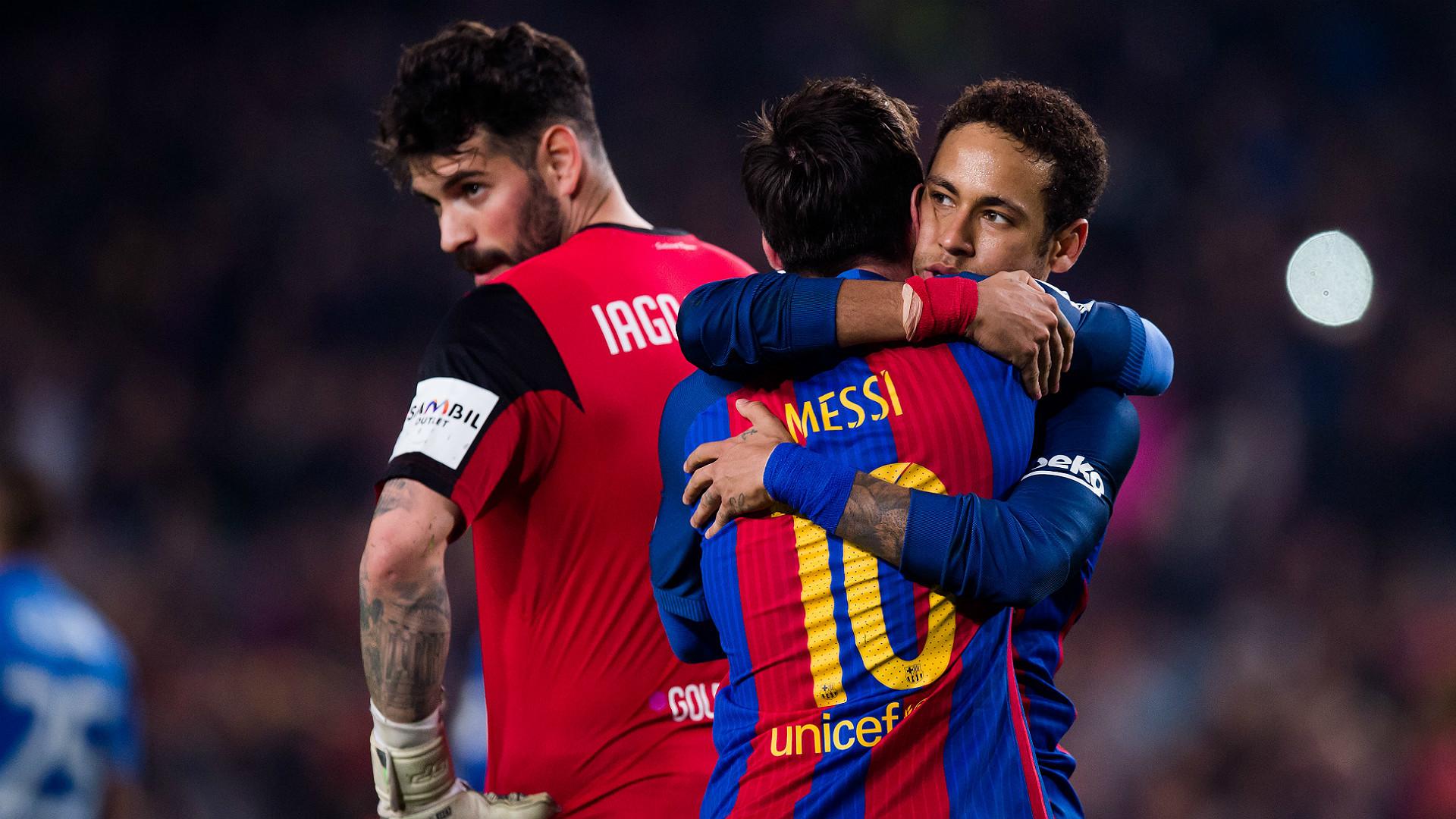Lionel Messi Neymar Barcelona Leganes LaLiga 19022017