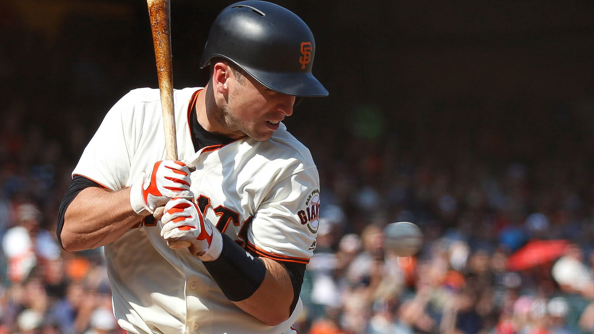 … giants lineup buster posey out hunter pence back in for opener …