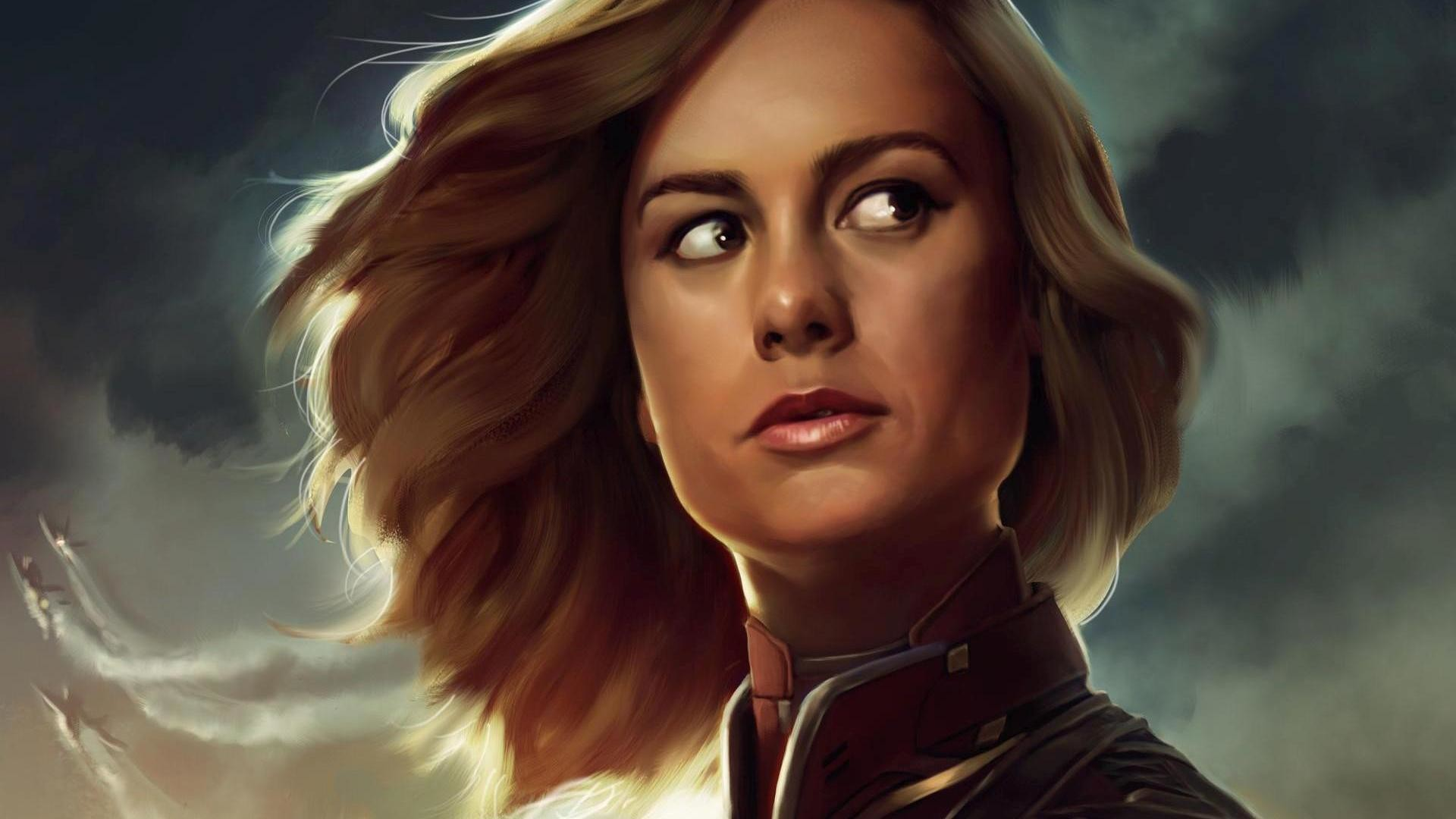 Download hd Brie Larson Captain Marvel Artwork hd Wallpaper
