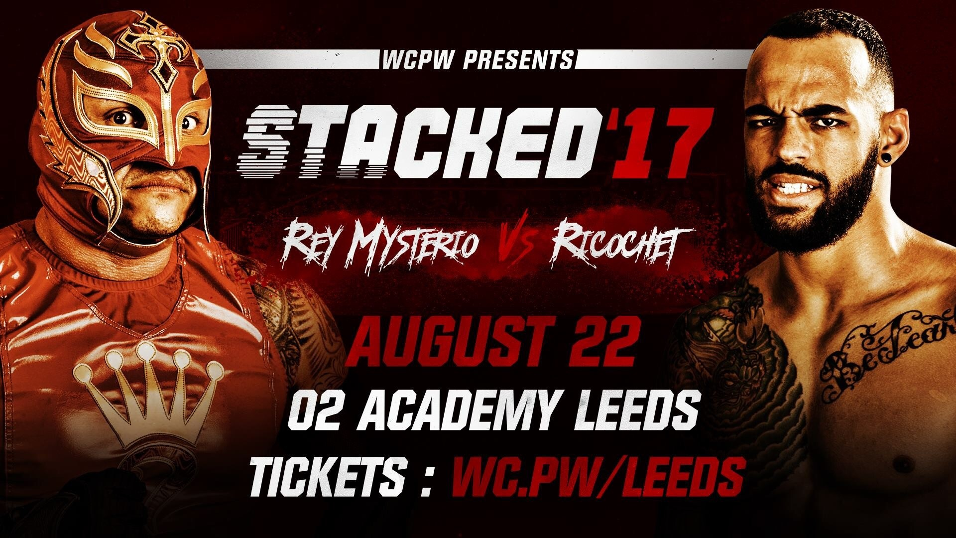 """WCPW have announced that Pro Wrestling World Cup Qualifiers, Rey Mysterio  will face Ricochet in singles action at """"Stacked 2017"""" plus The Briscoe  Brothers, …"""