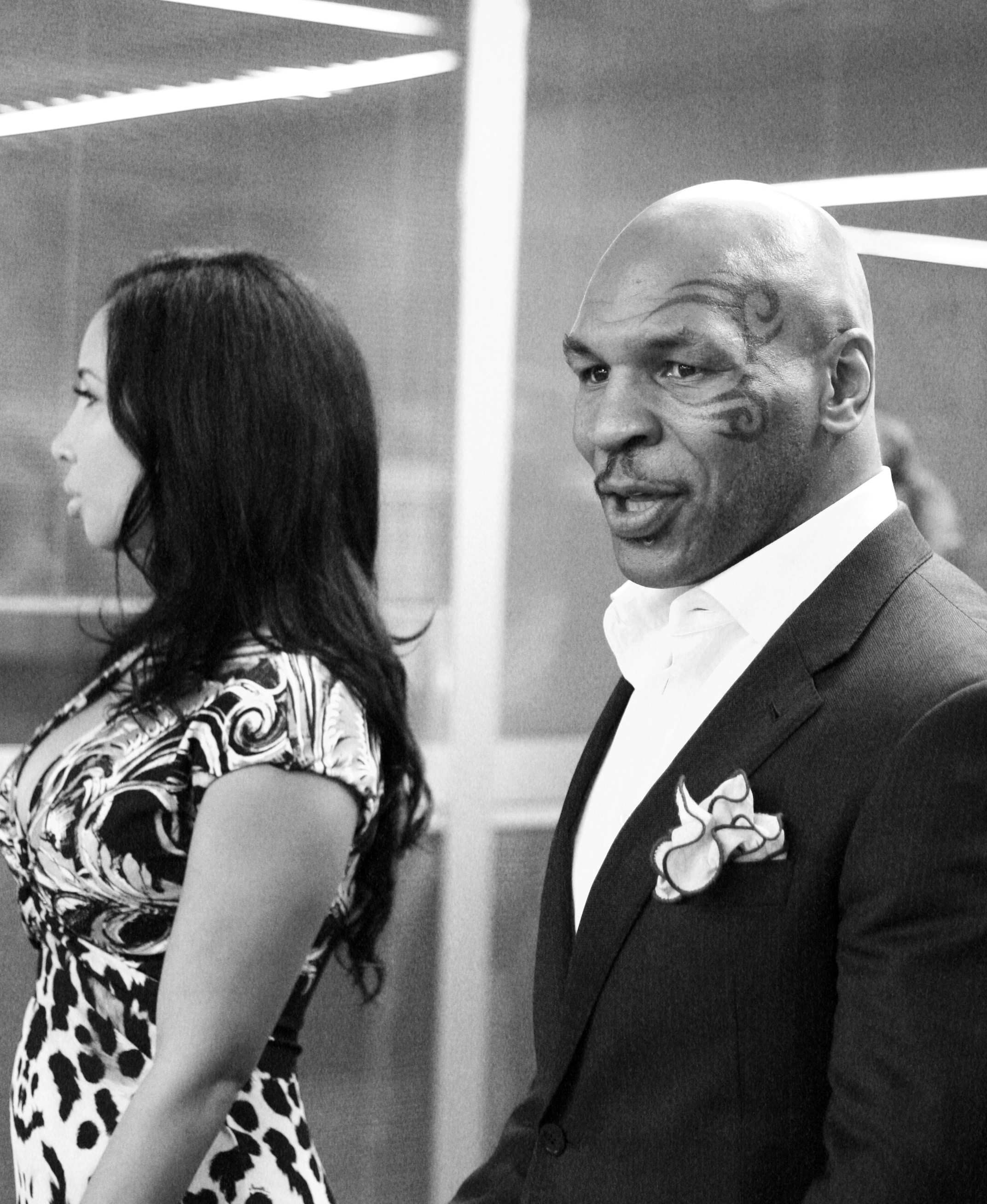 Mike Tyson with his wife Lakiha Spicer.